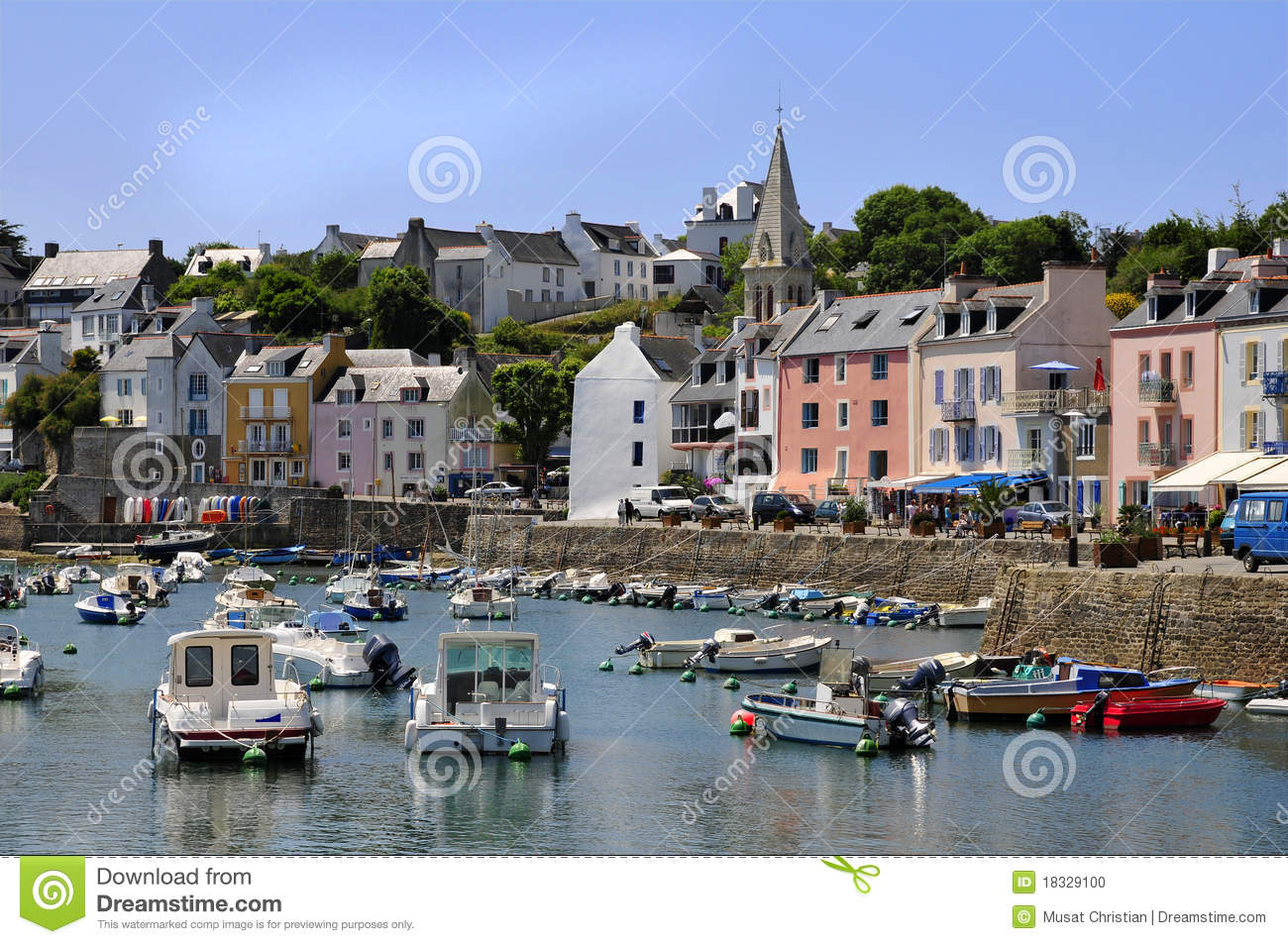 Port Sauzon At Belle Ile In France Stock Image