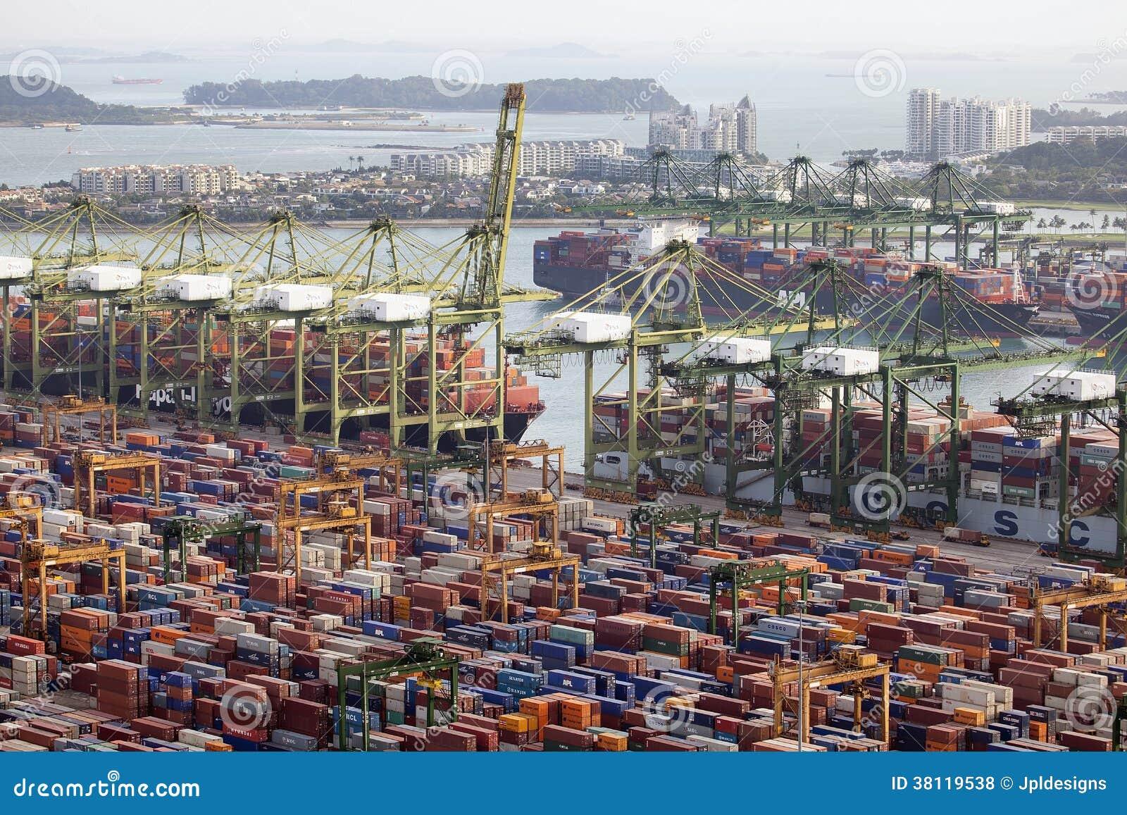 Port of Singapore Container Shipyard