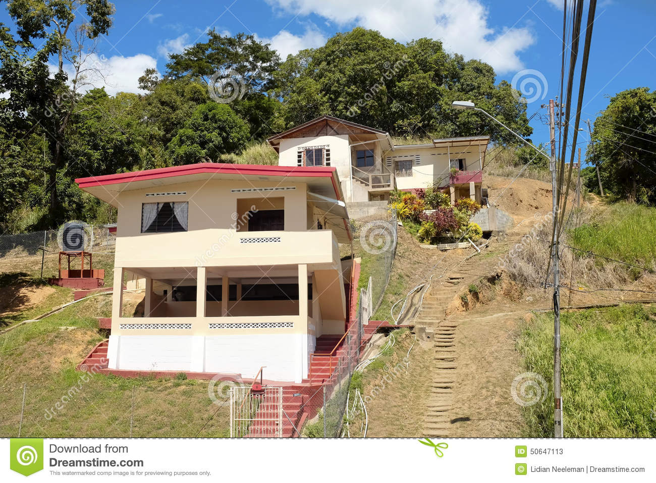 Port of spain in trinidad and tobago stock image image for Trini homes