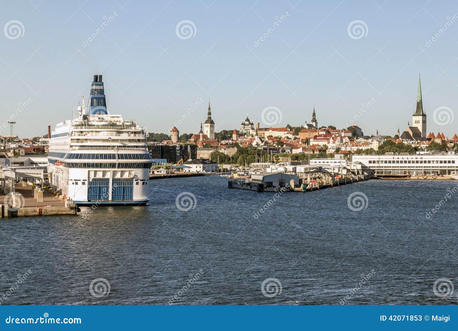 Download Port of Tallinn Estonia stock image. Image of town, harbour - 42071853