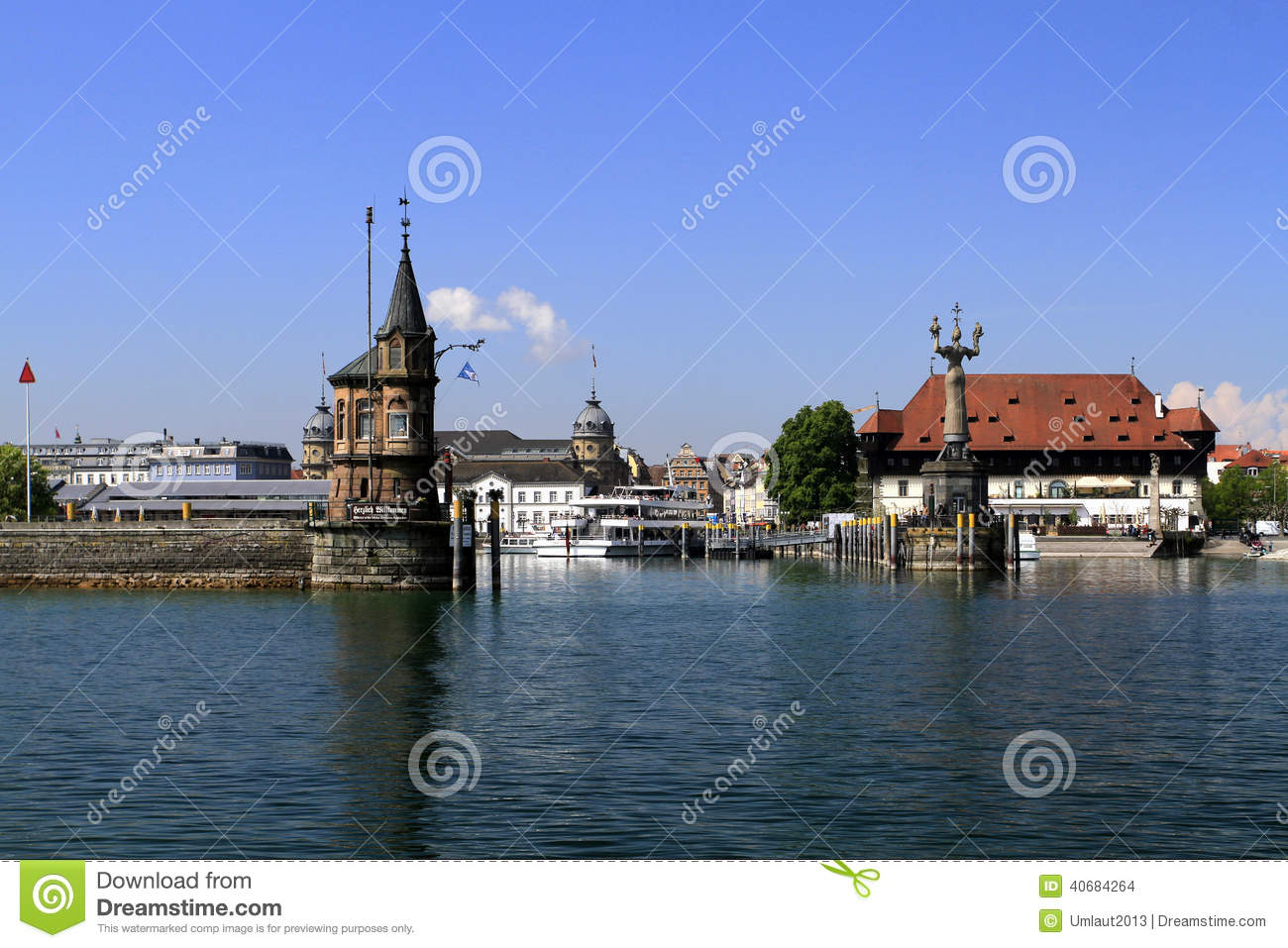 Port In The Town On The Bodensee Konstanz Editorial Stock Image