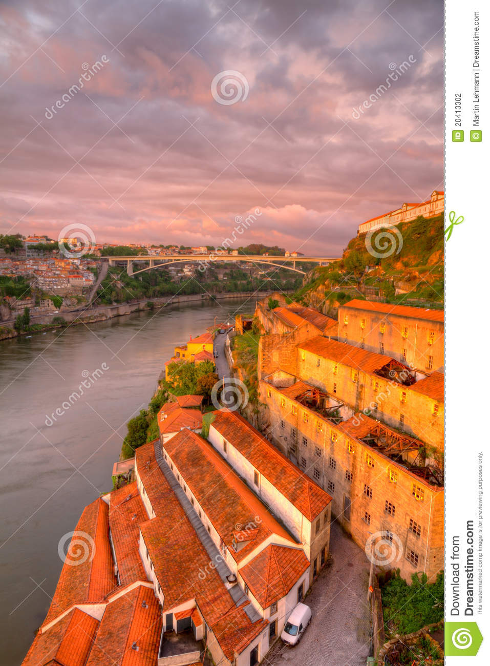 port warehouses near porto portugal stock photography