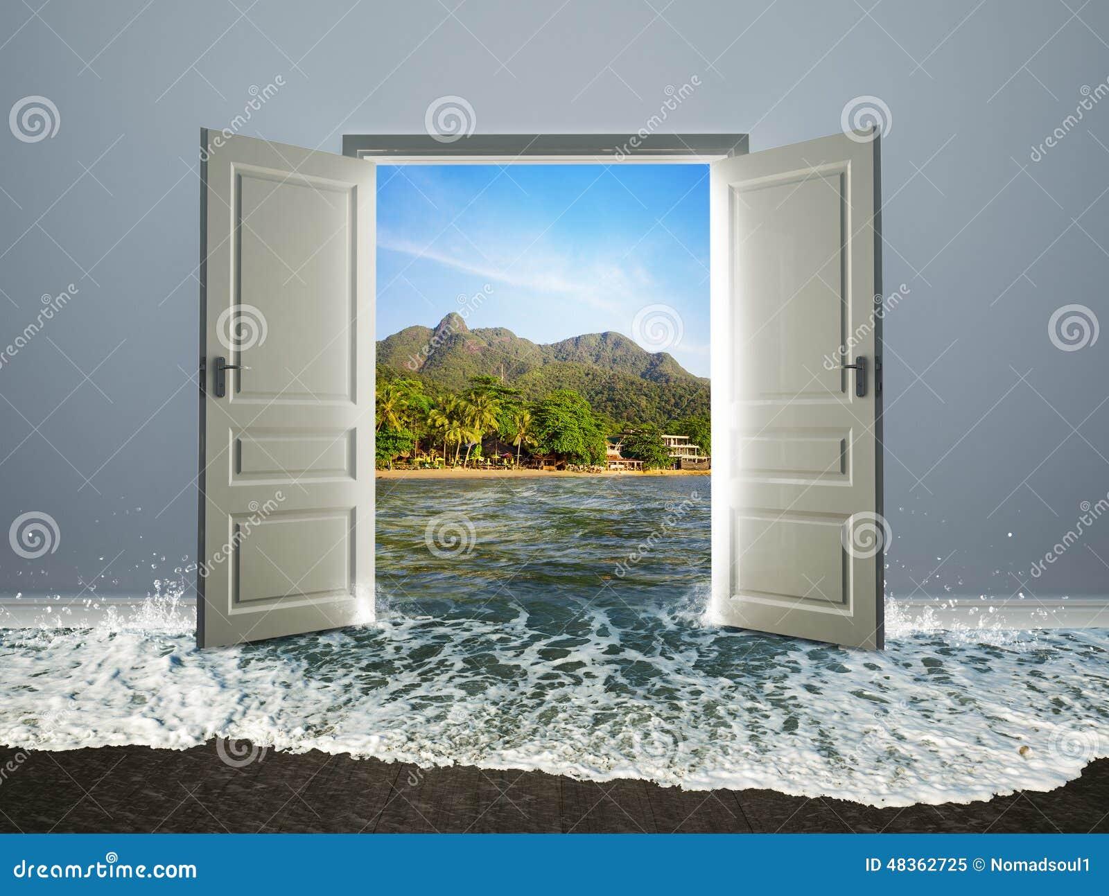 Porta aberta à praia