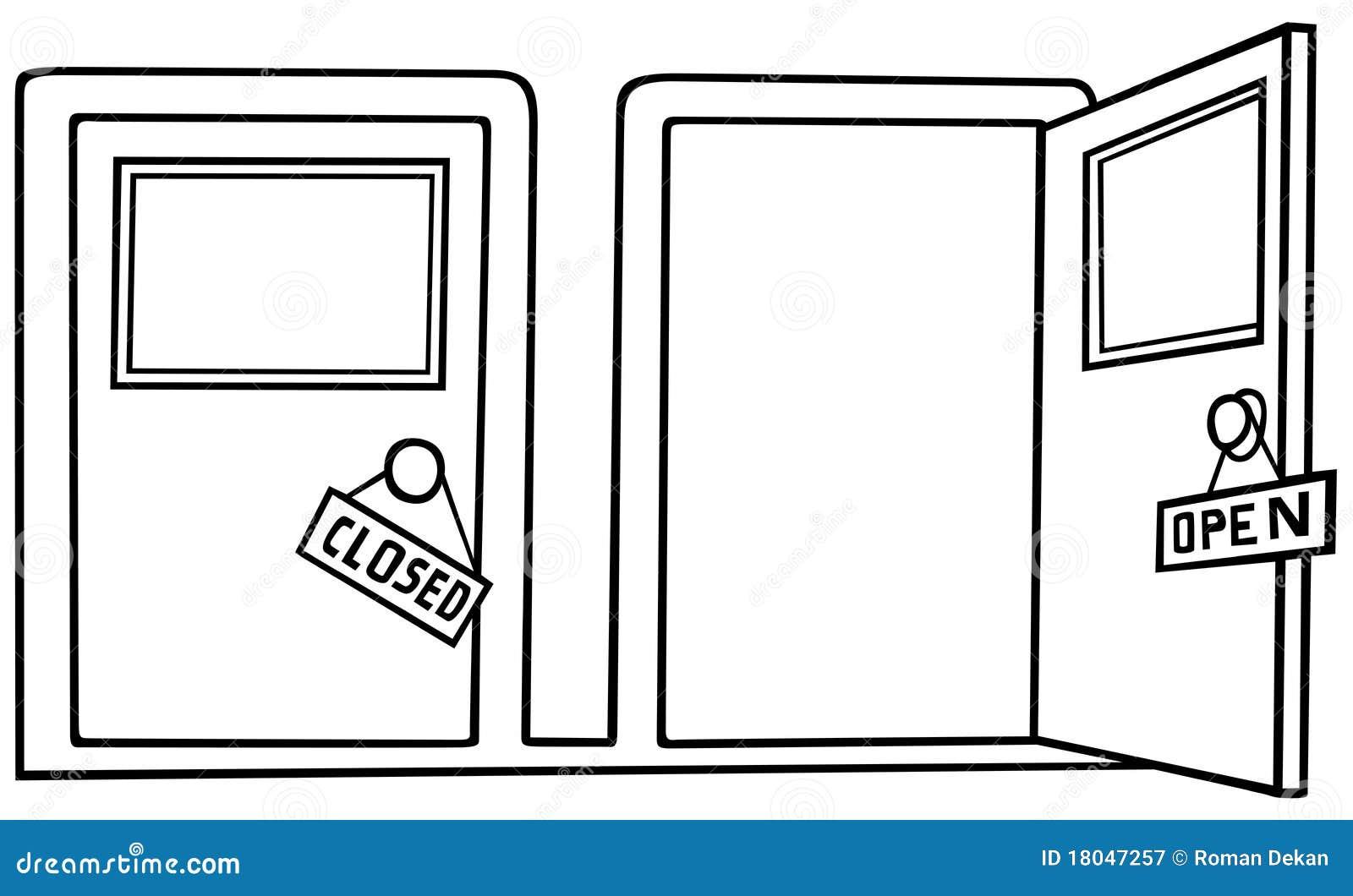 Double door clipart -  Double Door Clipart Porta Aberta E Pr 243 Xima Ilustra 231 227 O Preto E Branco Dos Desenhos
