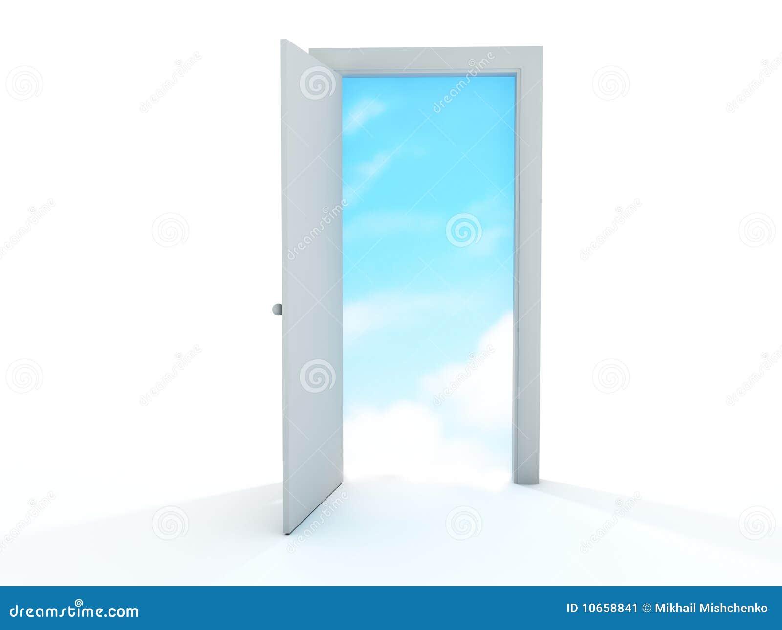 Porta Aperta Illustrazione Di Stock Illustrazione Di