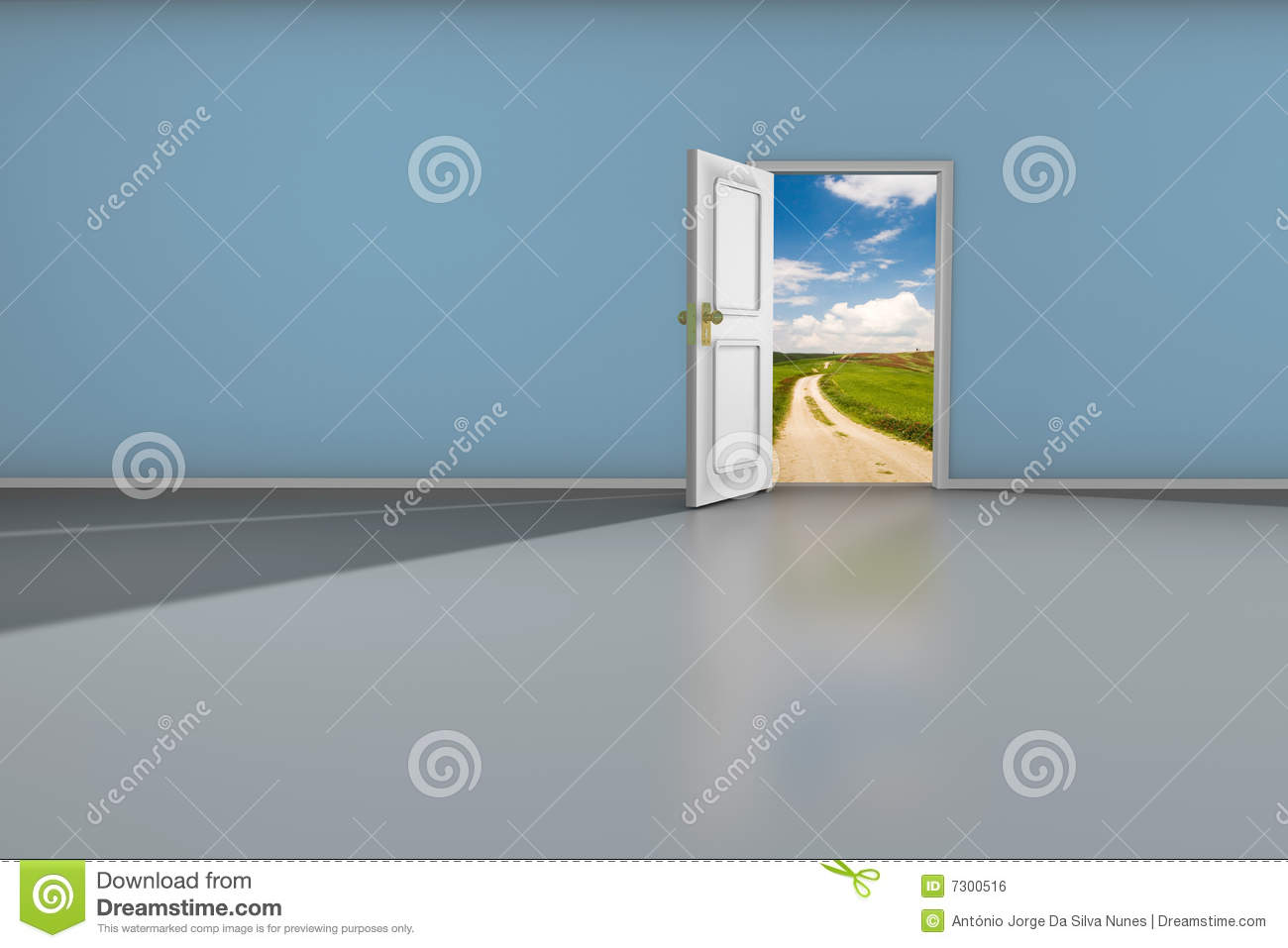 Download Porta aperta illustrazione di stock. Illustrazione di idee - 7300516