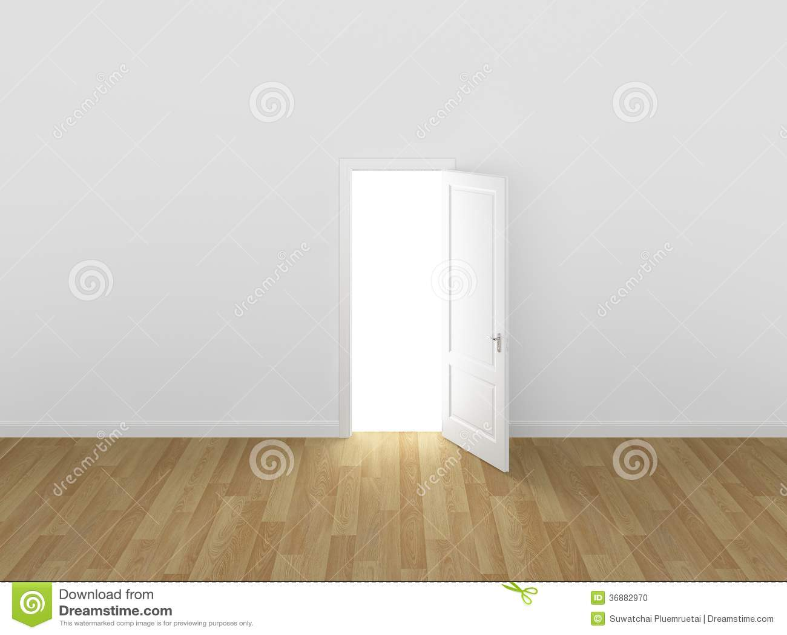 Download Porta Aperta Sulla Parete Bianca, 3d Illustrazione di Stock - Illustrazione di domestico, apertura: 36882970