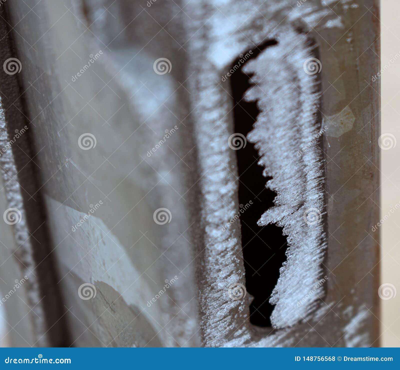 Porta congelada no inverno