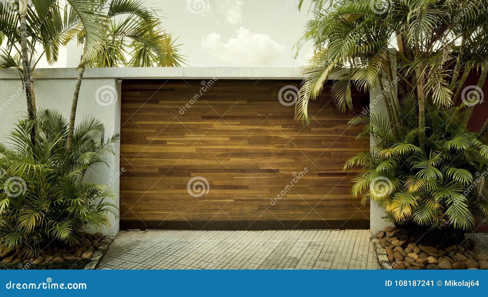 Porta da garagem do carro