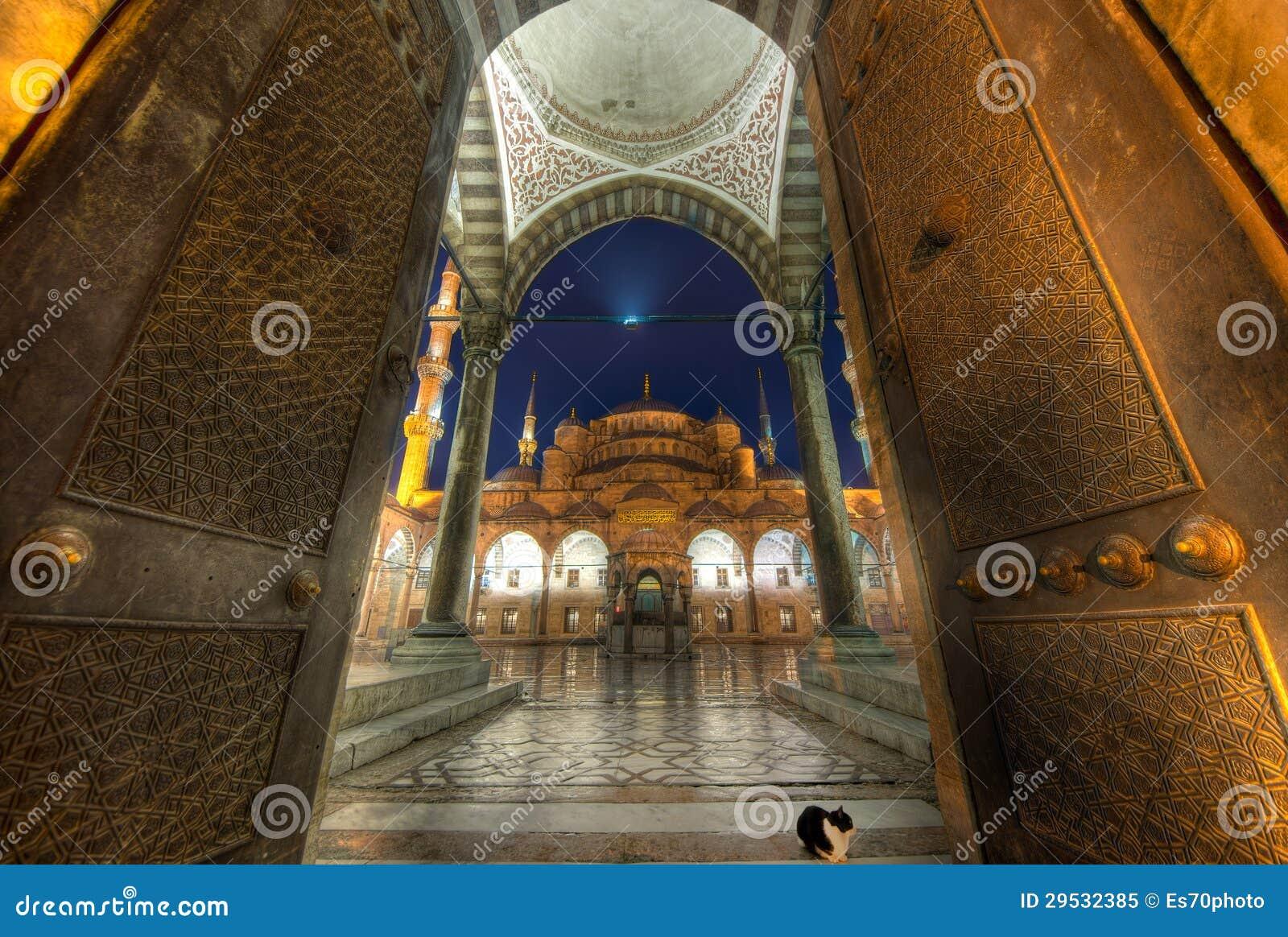 A porta da mesquita azul