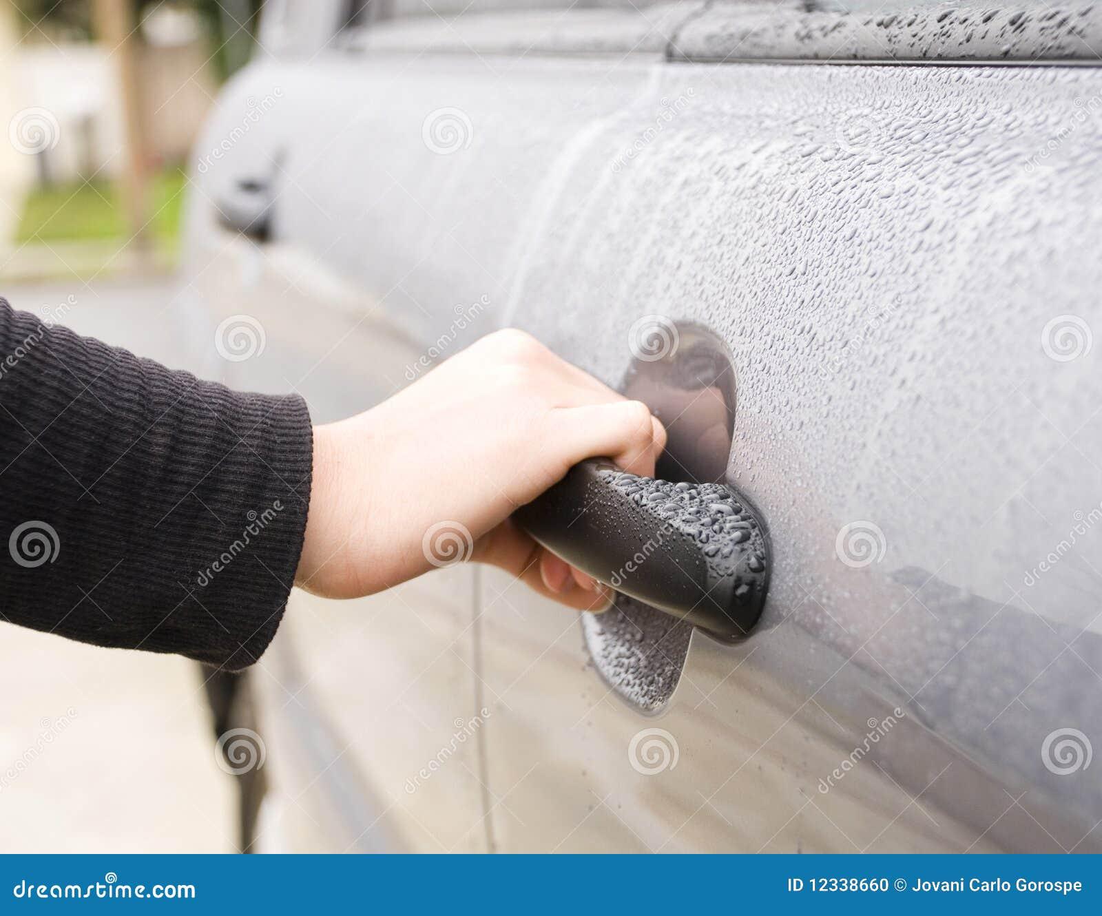 Porta de carro fêmea da abertura da mão