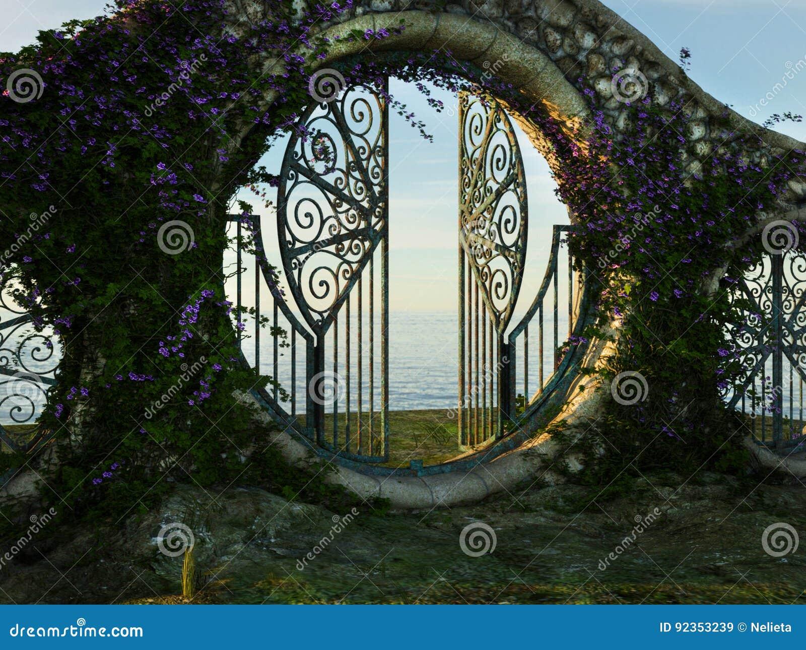 Porta de jardim da fantasia