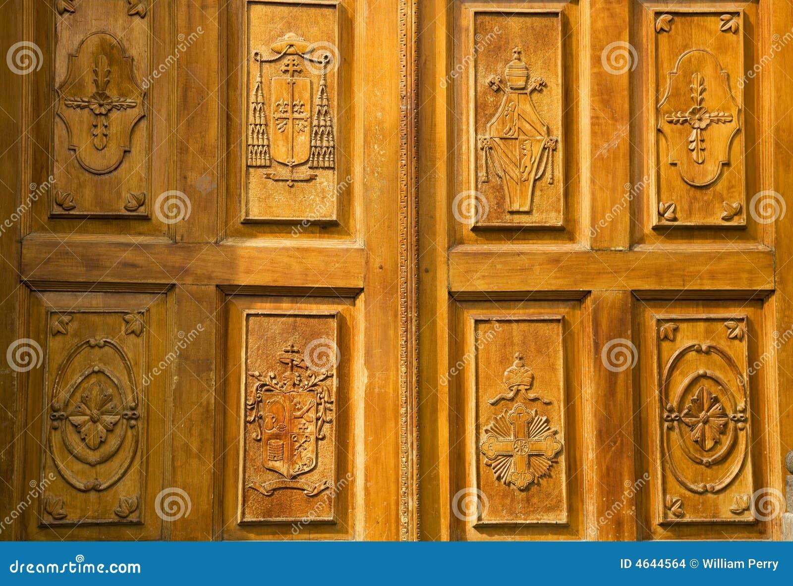 Porta de madeira dourada México da igreja