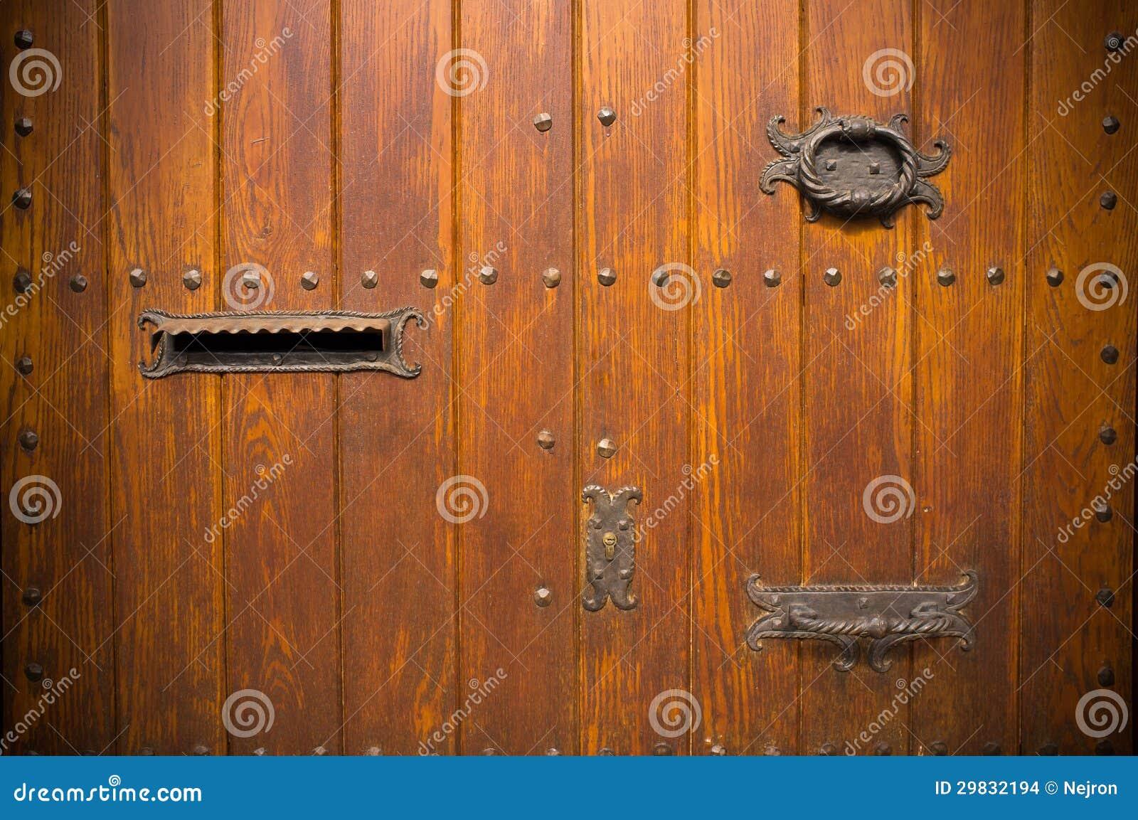 Porta de madeira com doorknob