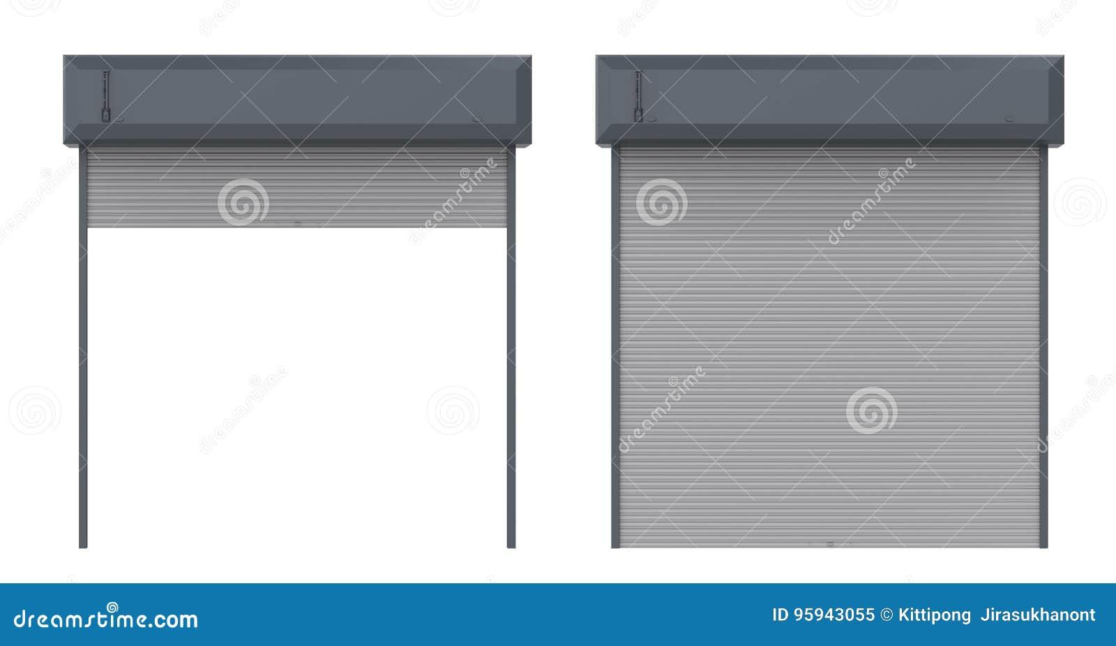 Porta do obturador do metal