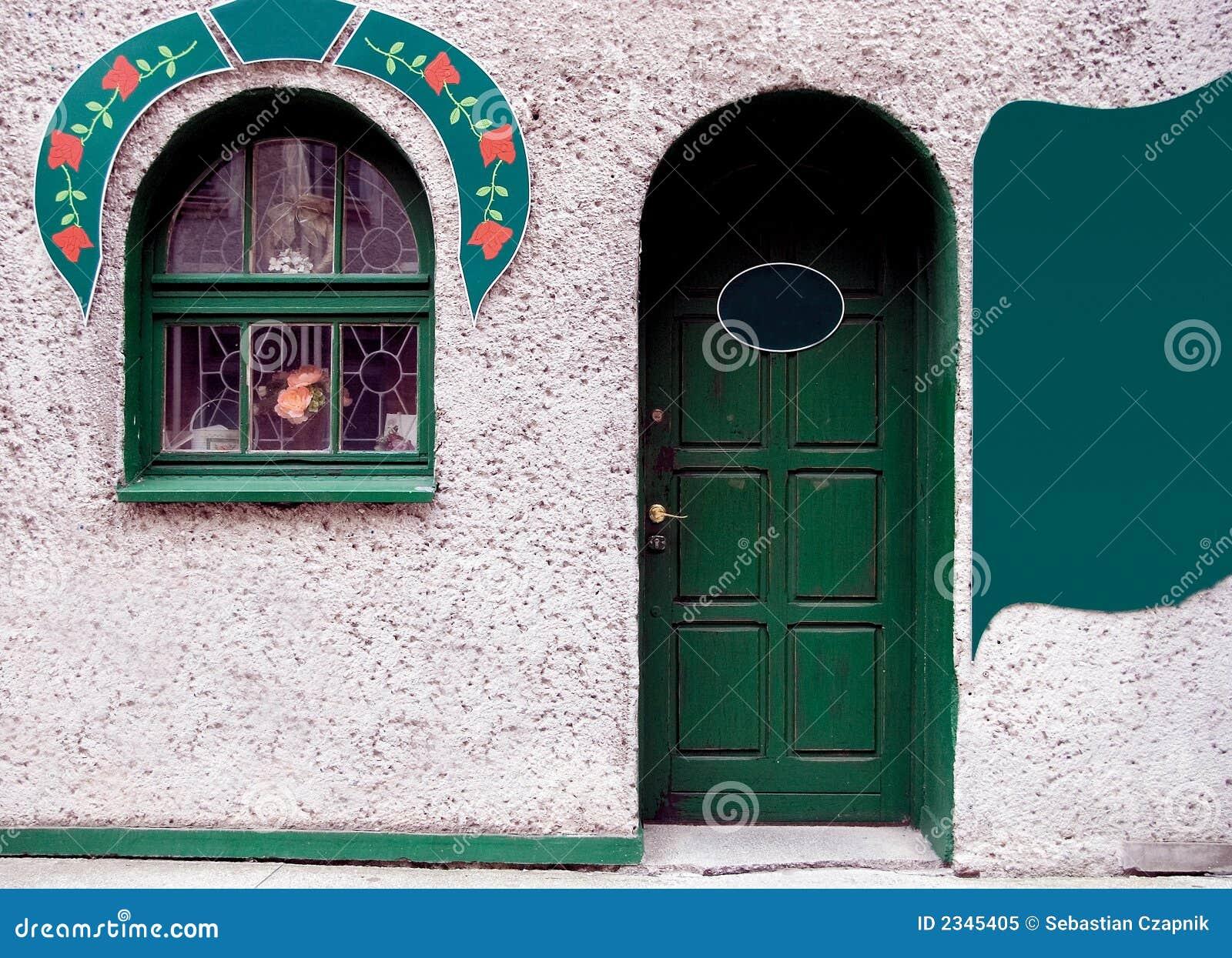 Porta e indicador verdes