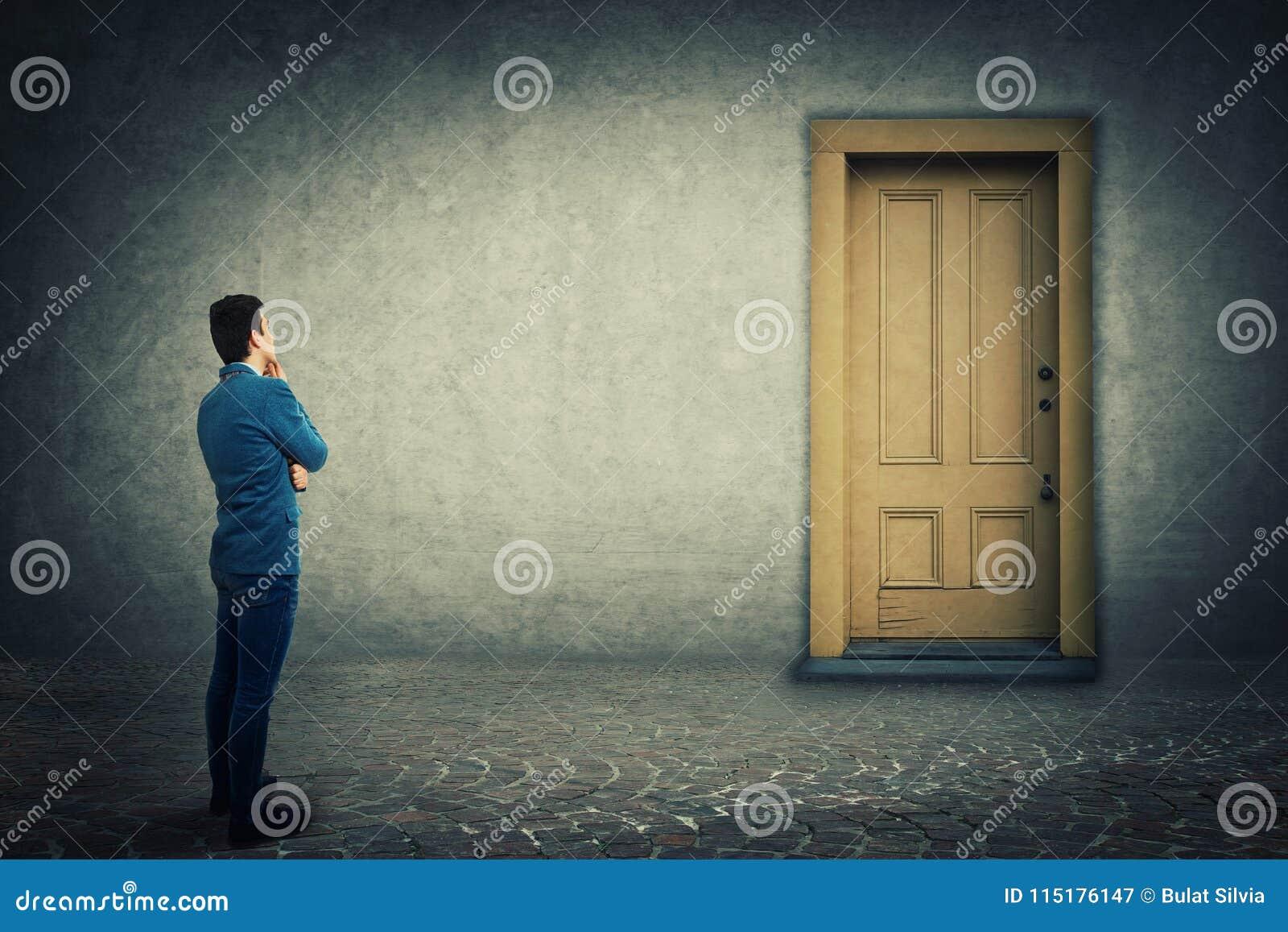 A porta fechada