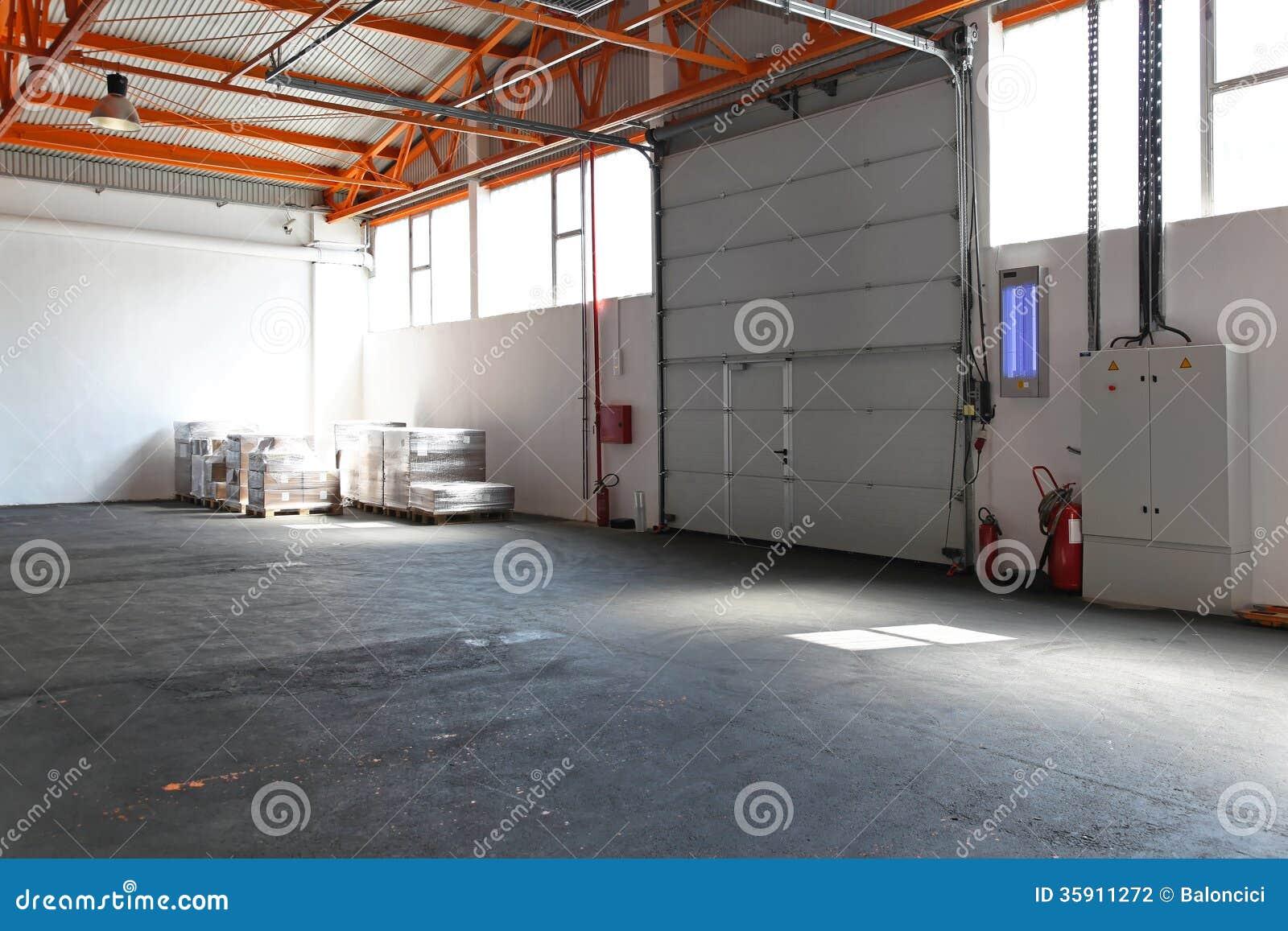 Porta industrial da garagem