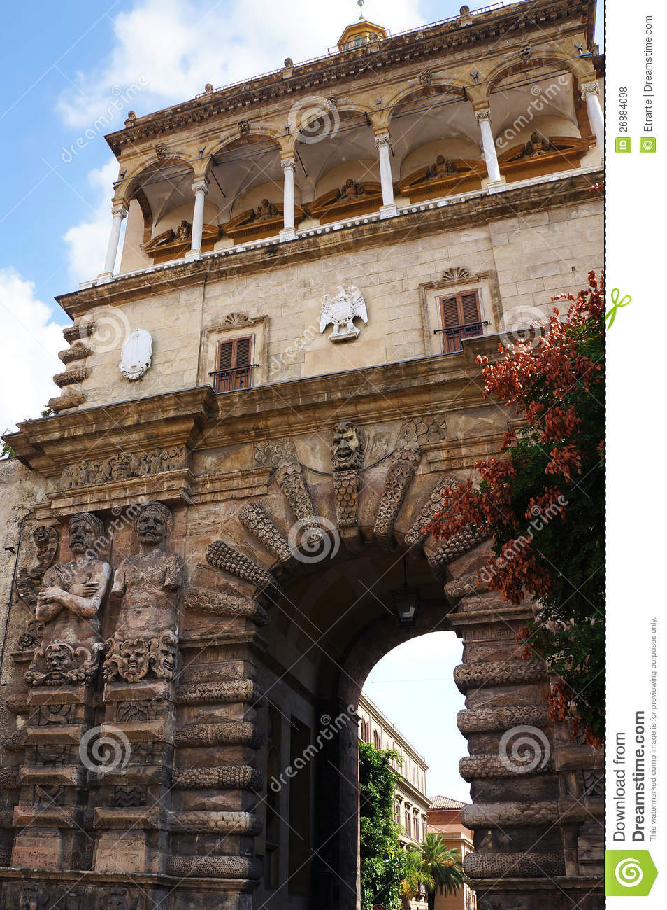 The porta nuova of palermo in sicily stock photo image - Porte a palermo ...