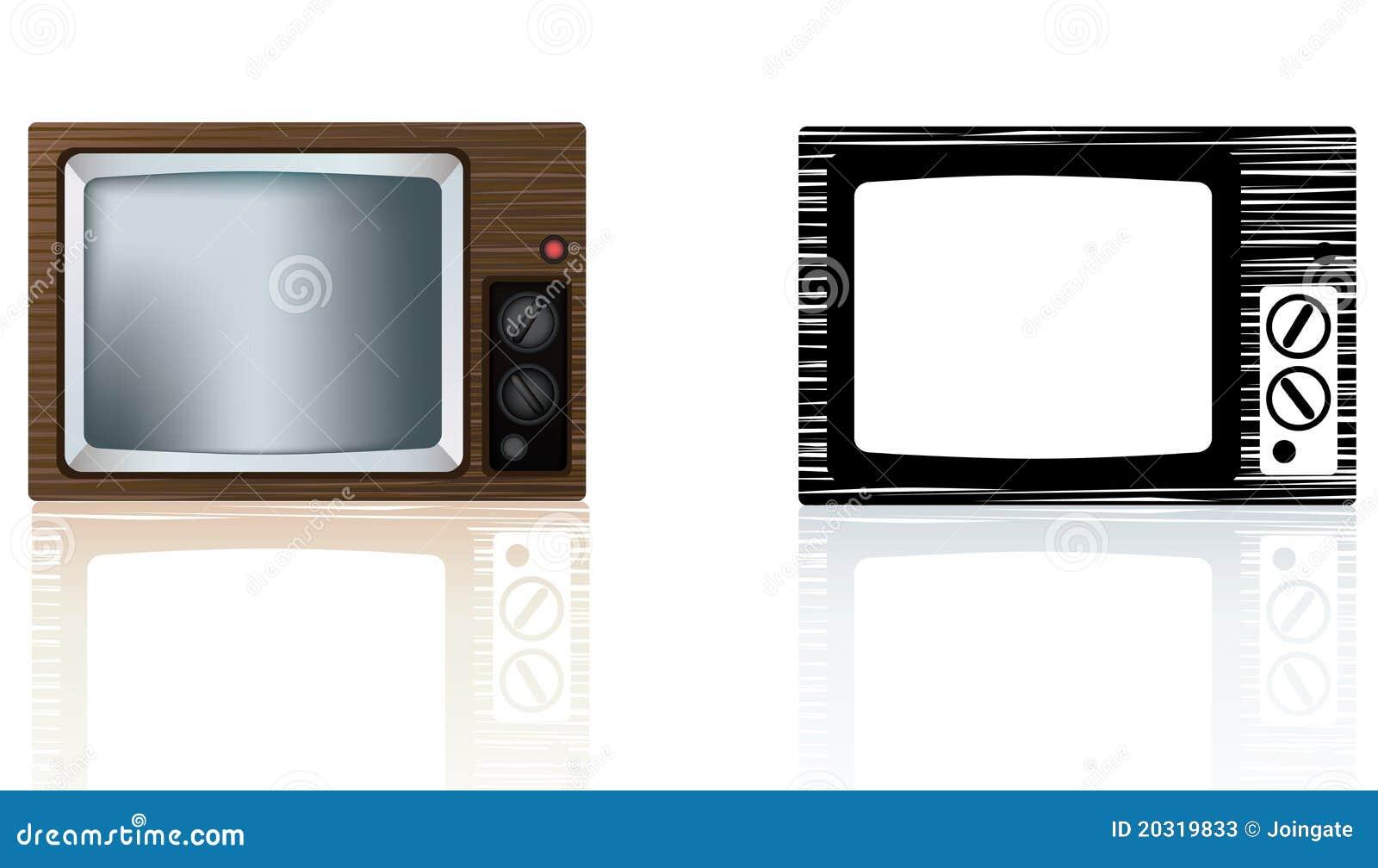 Portable de madera tv de los a os 70 o de los a os 80 del - Television anos 70 ...