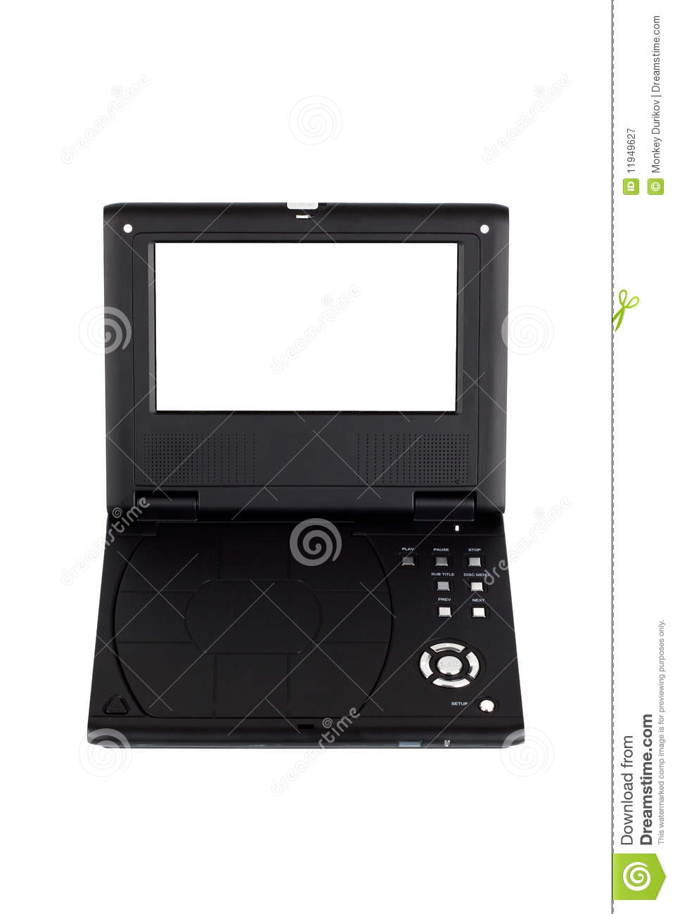 Royalty free stock photography portable dvd player image for Free portable