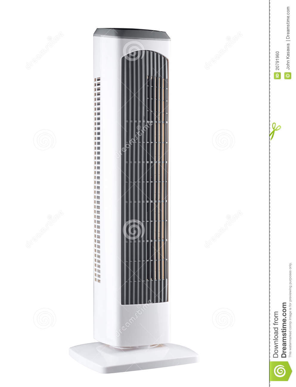 Portable Electric Fan And Air Conditioner Stock Photo