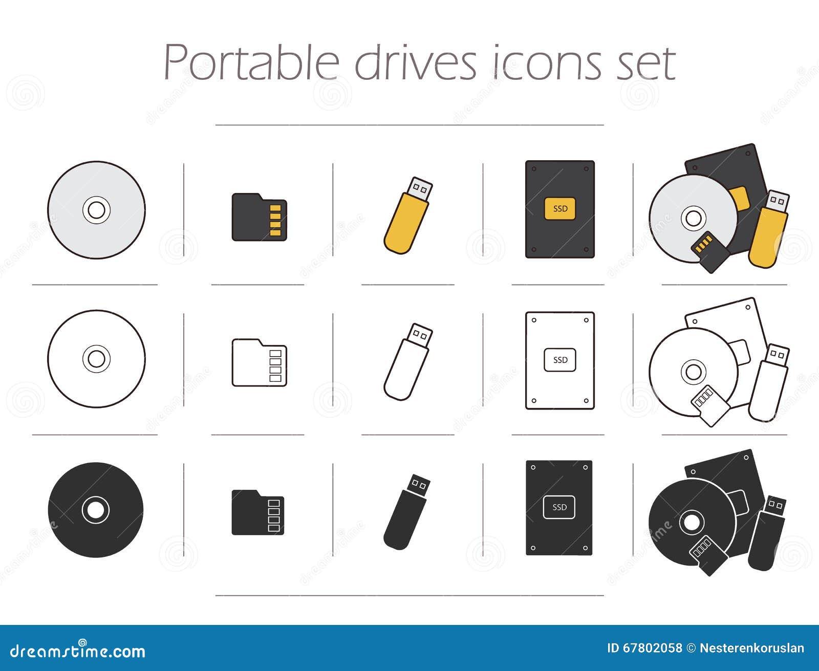 Portable fährt die eingestellten Ikonen