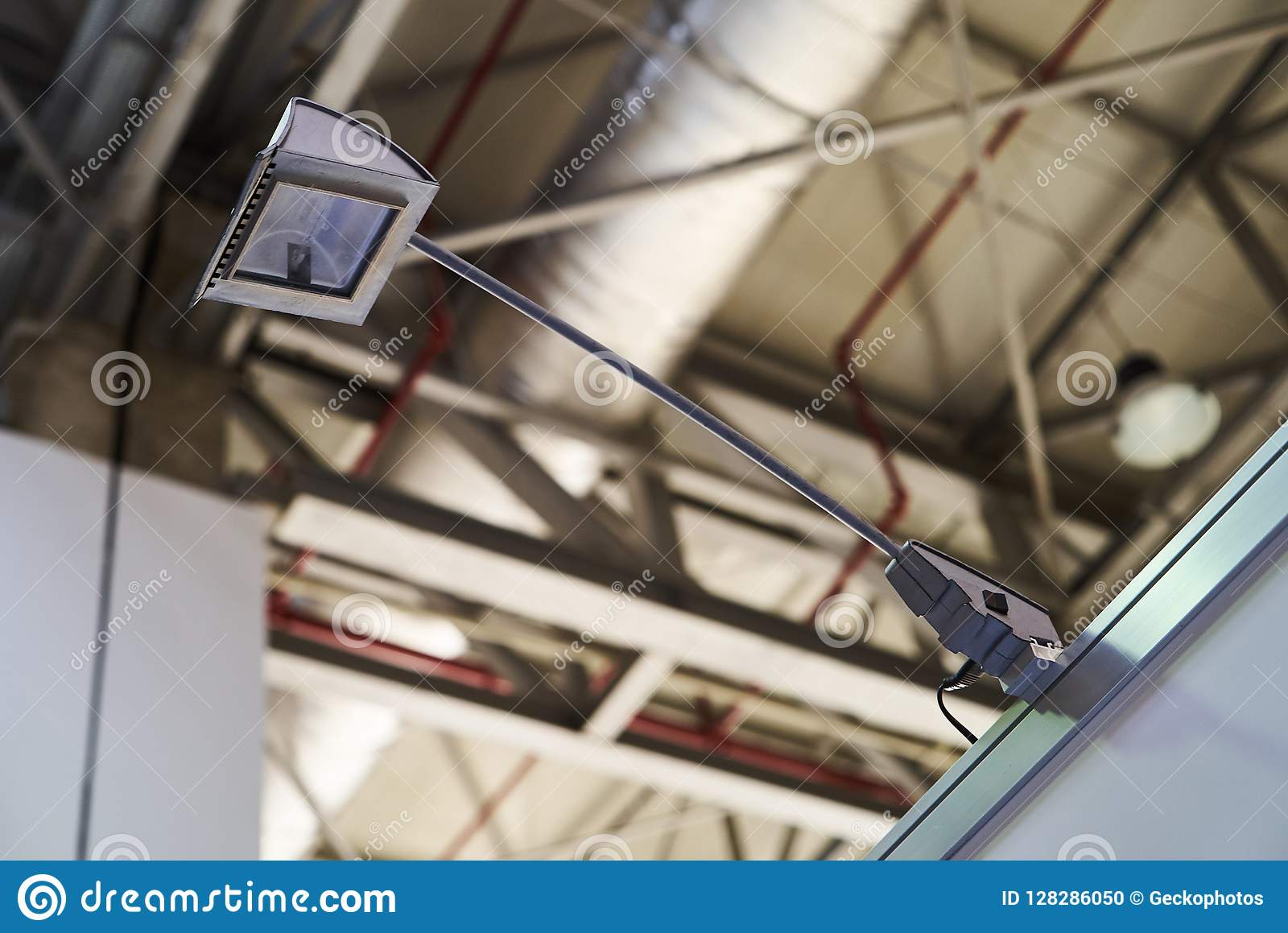 Portable Exhibition Lighting : Portable fixing lamp led lighting in a business centre stock photo