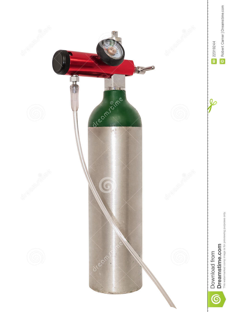 Portable Oxygen Cylinder For Medical Use Stock Photo