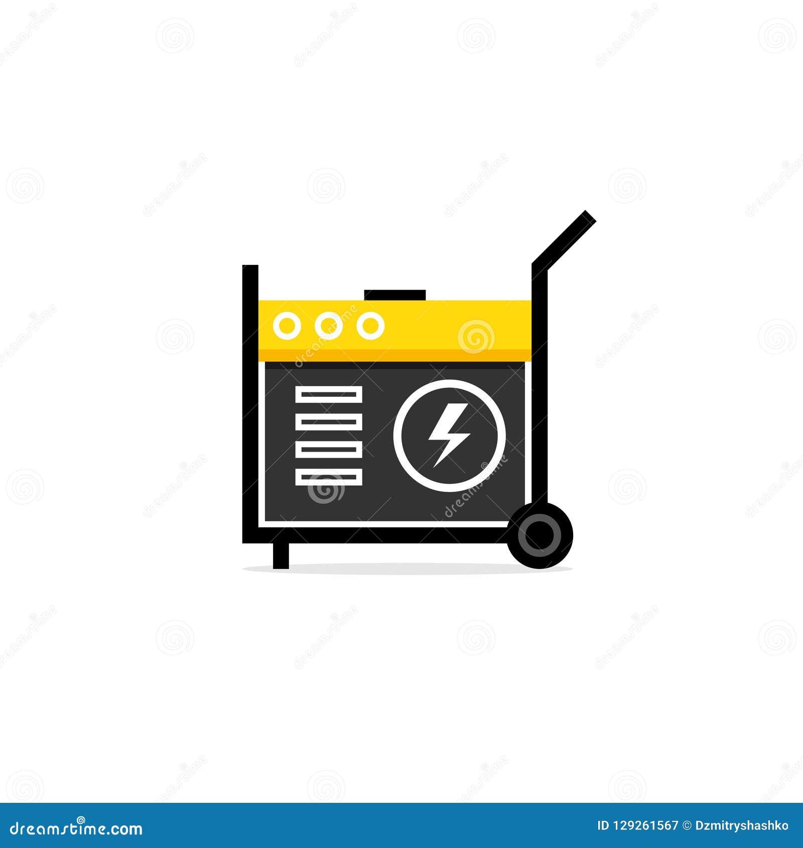 Power generator icon Fossil Fuel Portable Power Generator Icon Dreamstimecom Portable Power Generator Icon Stock Vector Illustration Of