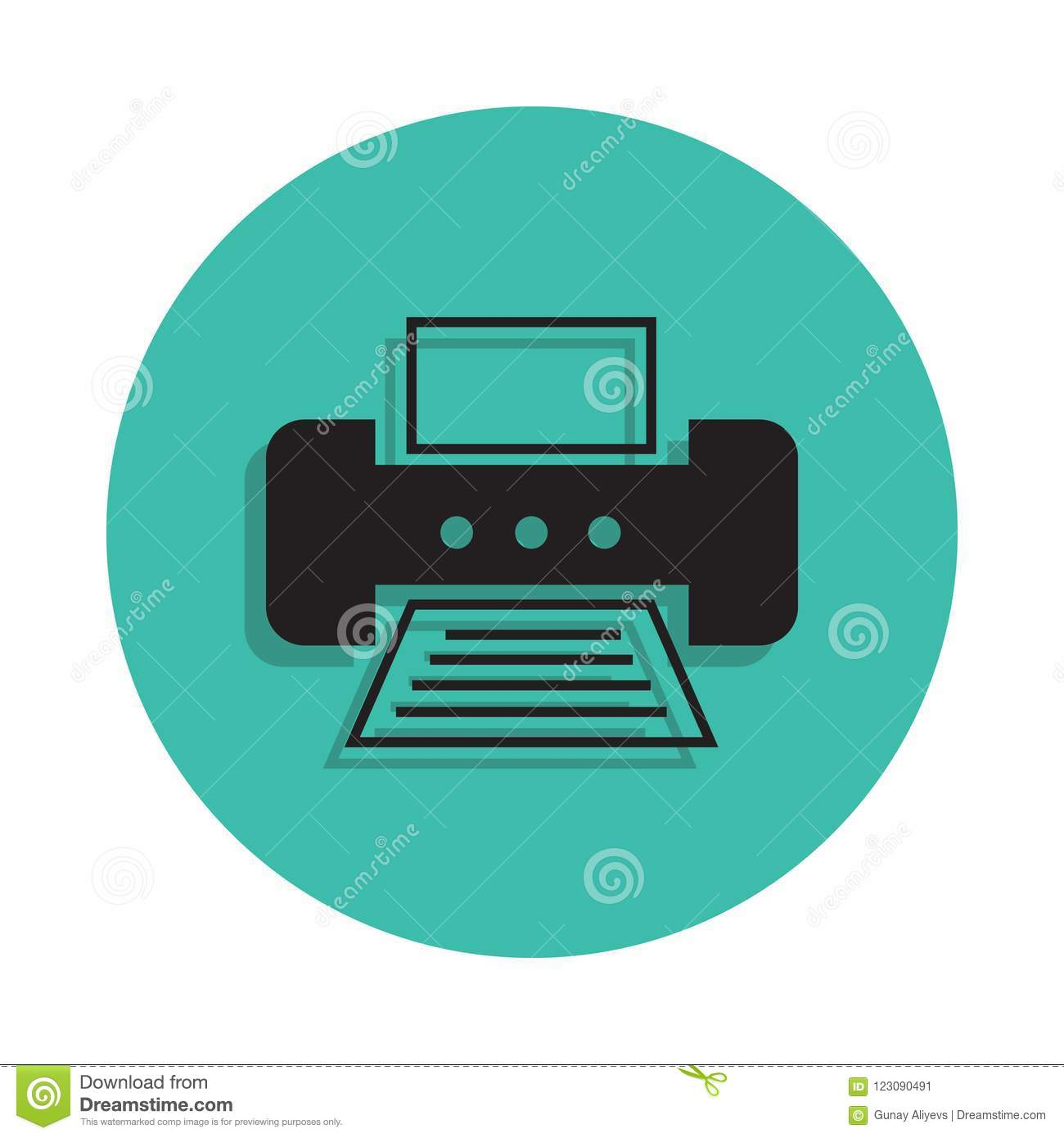 Portable Printer Icon  Element Of Printing House For Mobile