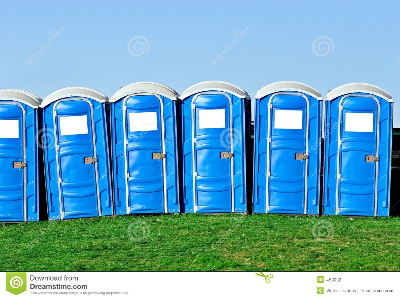 Download Portable toilets stock photo. Image of convenience, lock - 458092