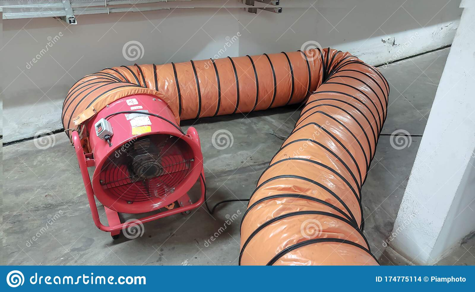 Portable Ventilation Fans And Exhaust Fans Stock Photo ...