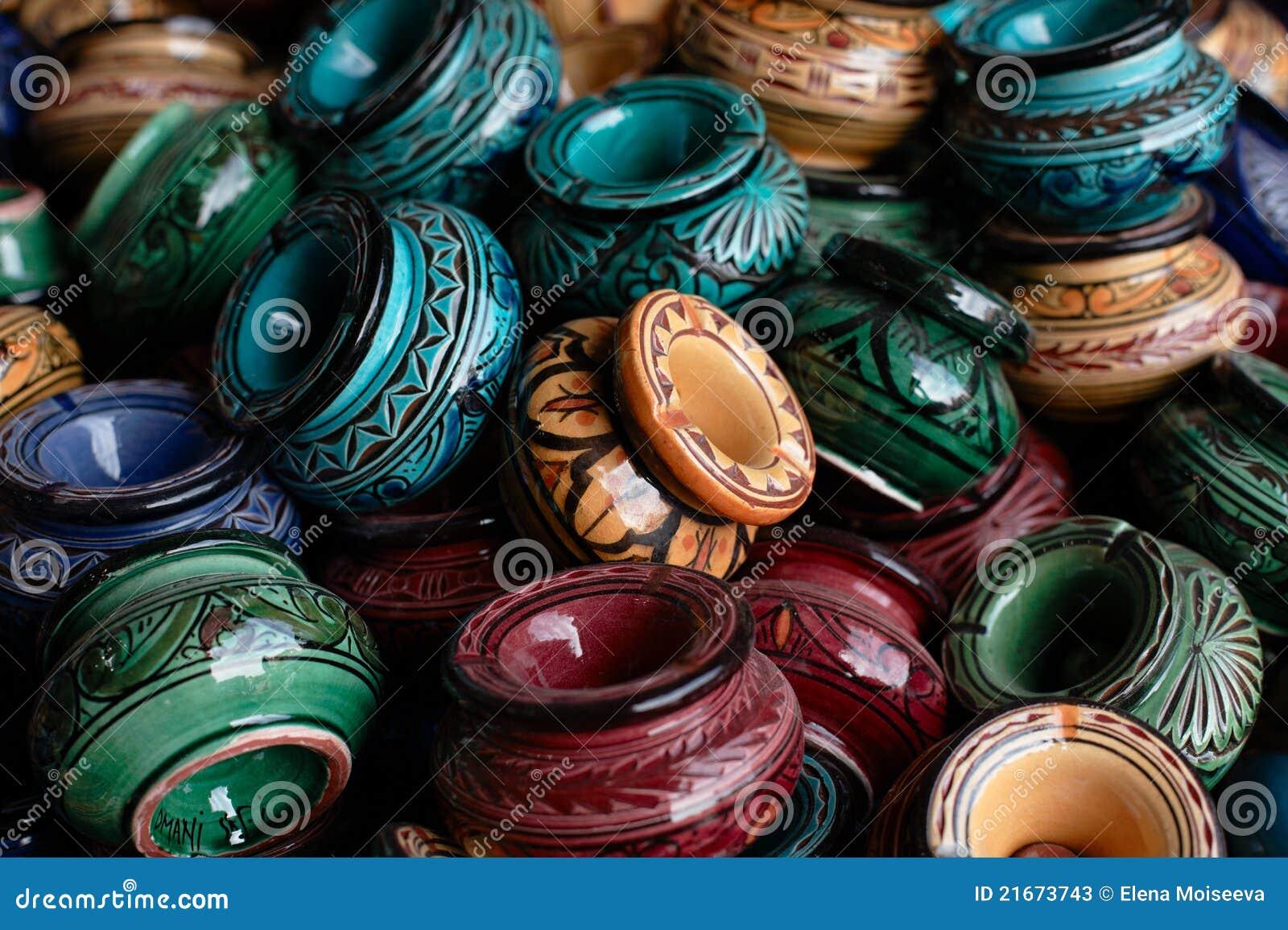 Portaceneri decorati ed il Marocco tradizionale