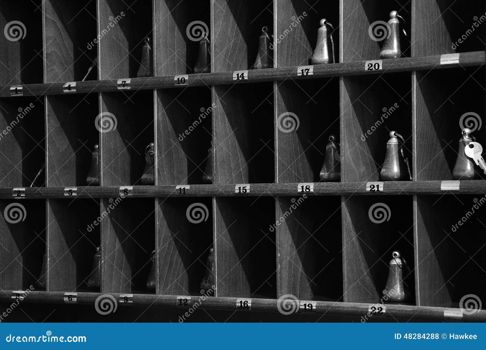 Portachiavi di ricezione dell 39 hotel fotografia stock for Piccoli piani di costruzione dell hotel