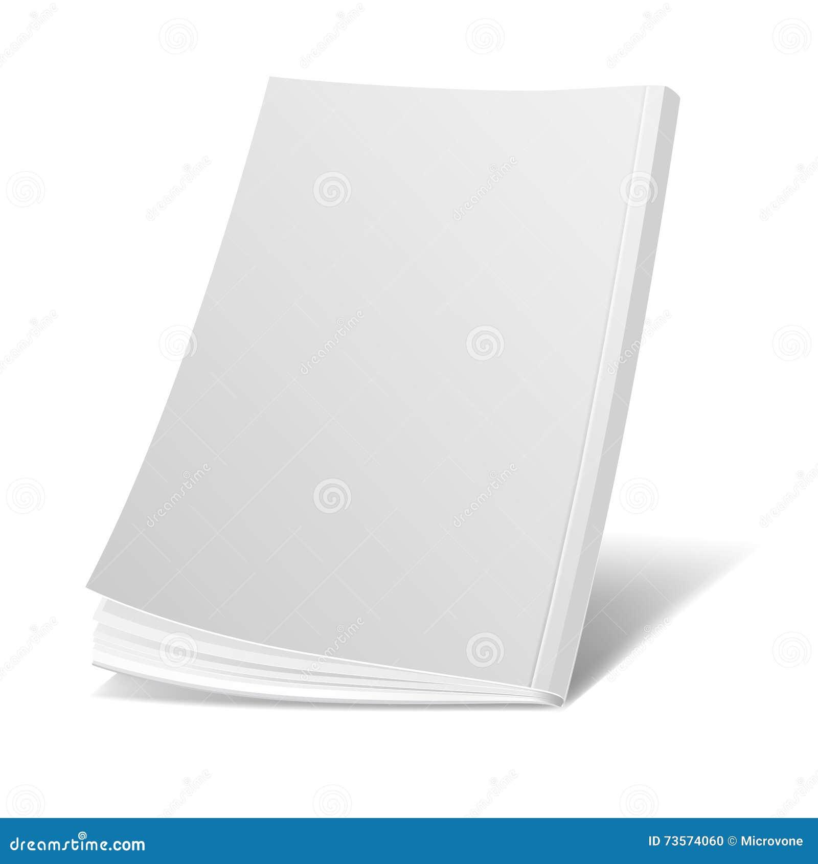 Portada De Revista Blanca Del Vuelo En Blanco, Libro, Folleto ...