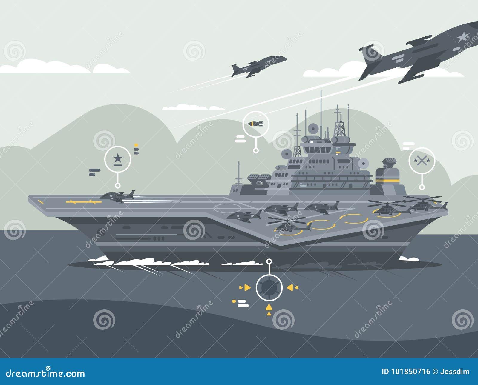 Portador de los aviones militares