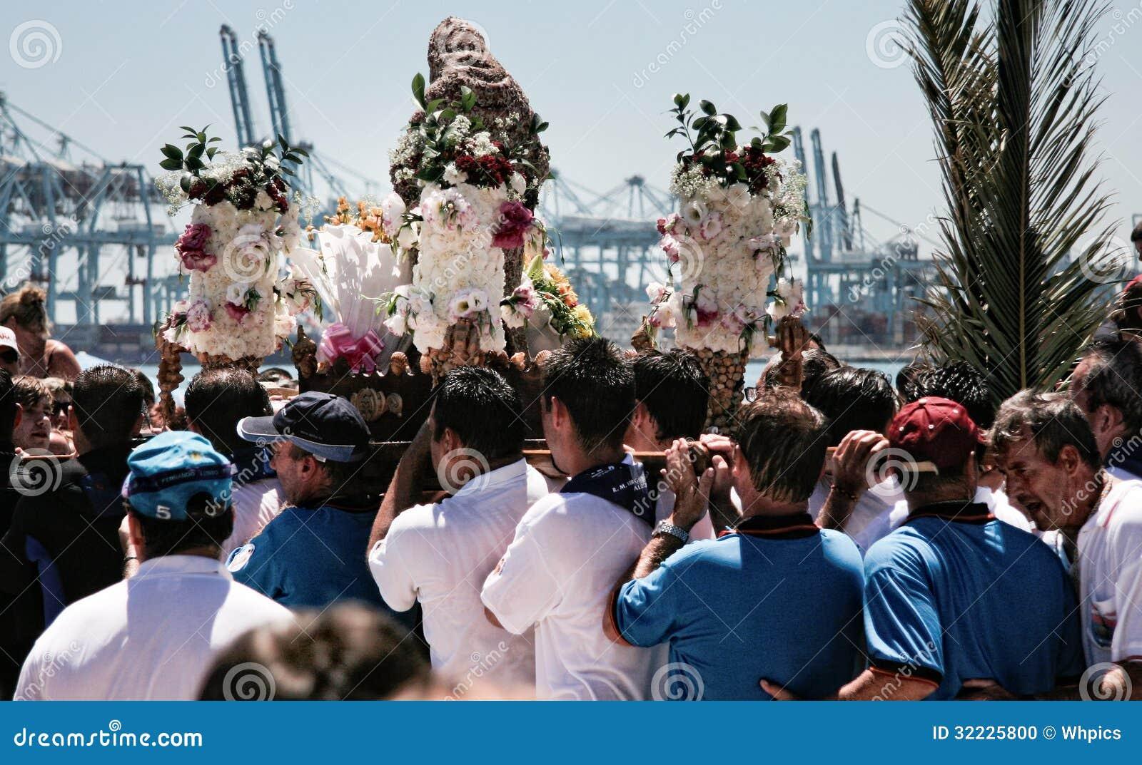 Download Portadores Do Virgin Da Palma Imagem Editorial - Imagem de palma, praia: 32225800