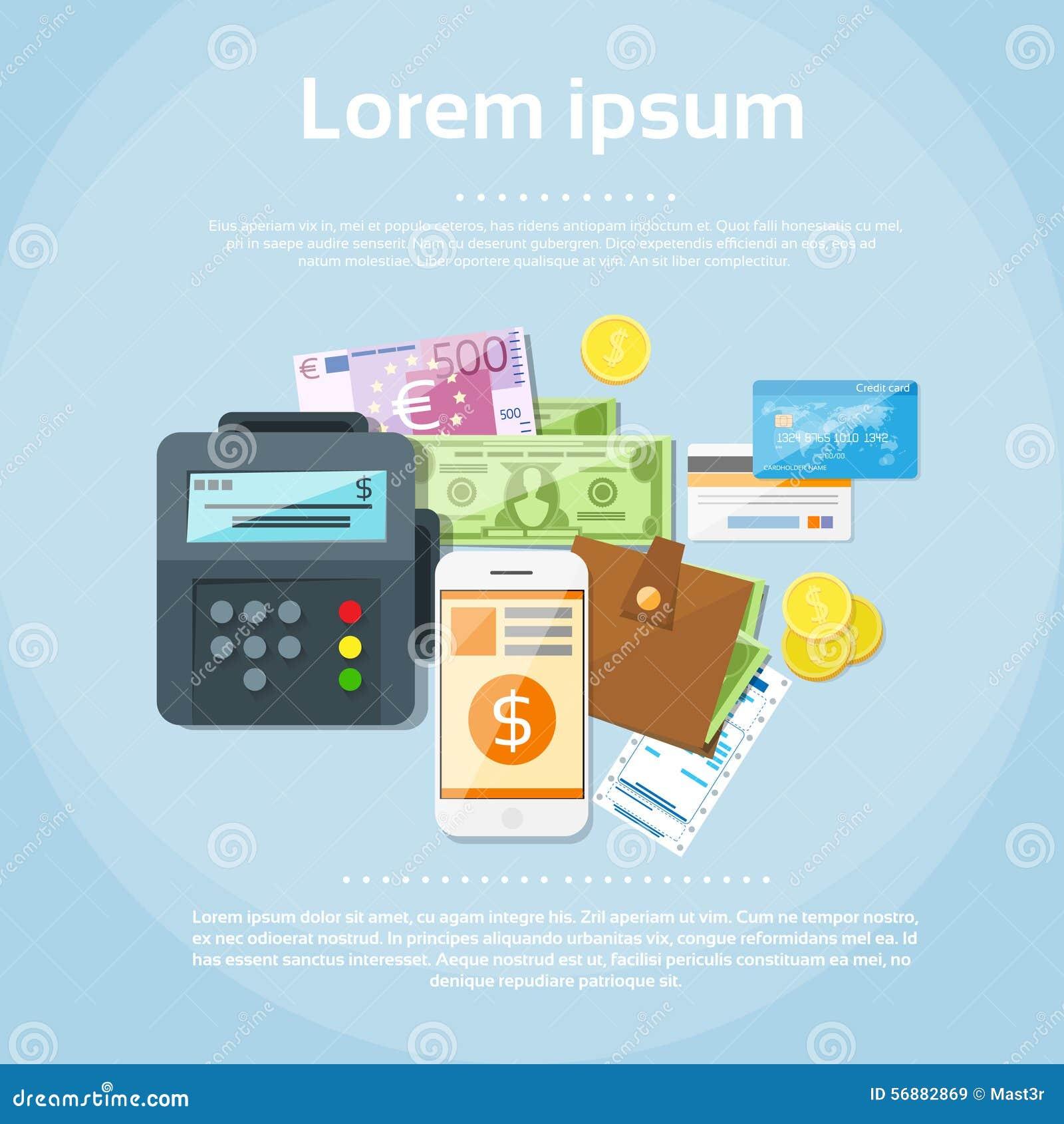 Portafoglio delle automobili di credito dei soldi del telefono messo opzioni di pagamento