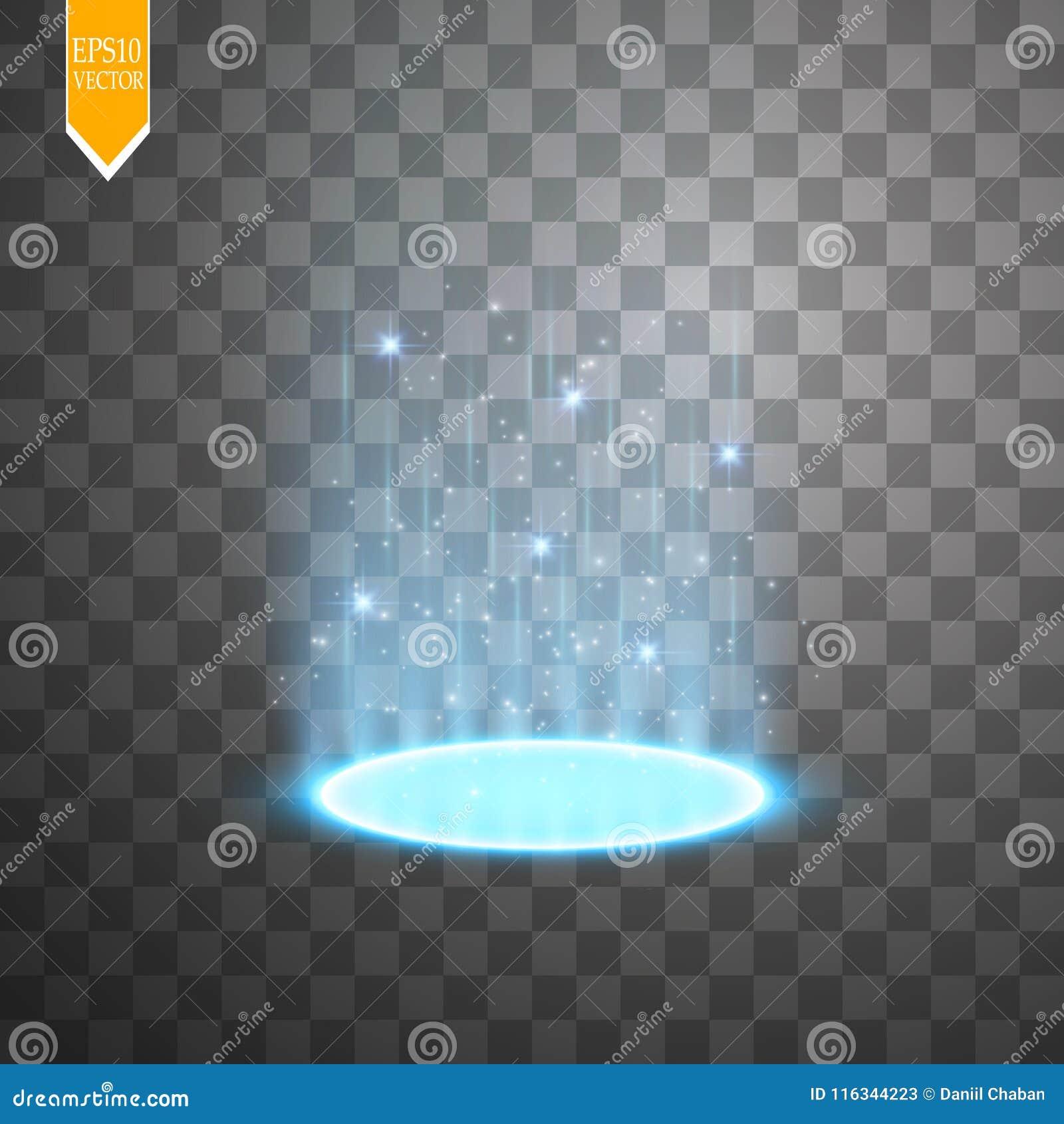 Portail magique d imagination Futuriste déplacez par télépathie Effet de la lumière Rayons légers de la scène et des étincelles d