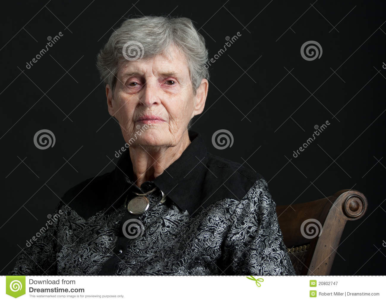 Royalty Free Stock Photography: Portait of an 83 year old woman