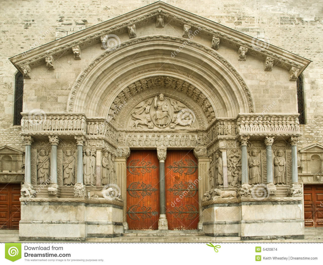 Portal of arles cathedral stock photo image of catholic for Z portal