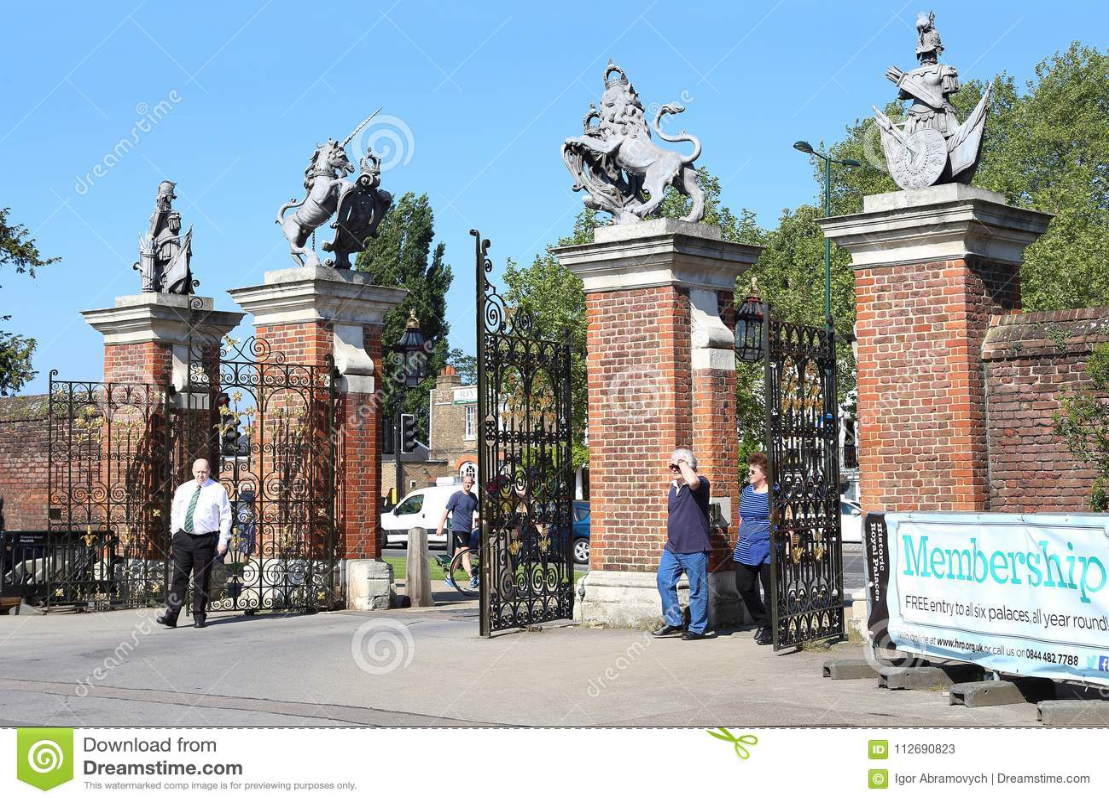 Portar av Hampton Court Palace, UK