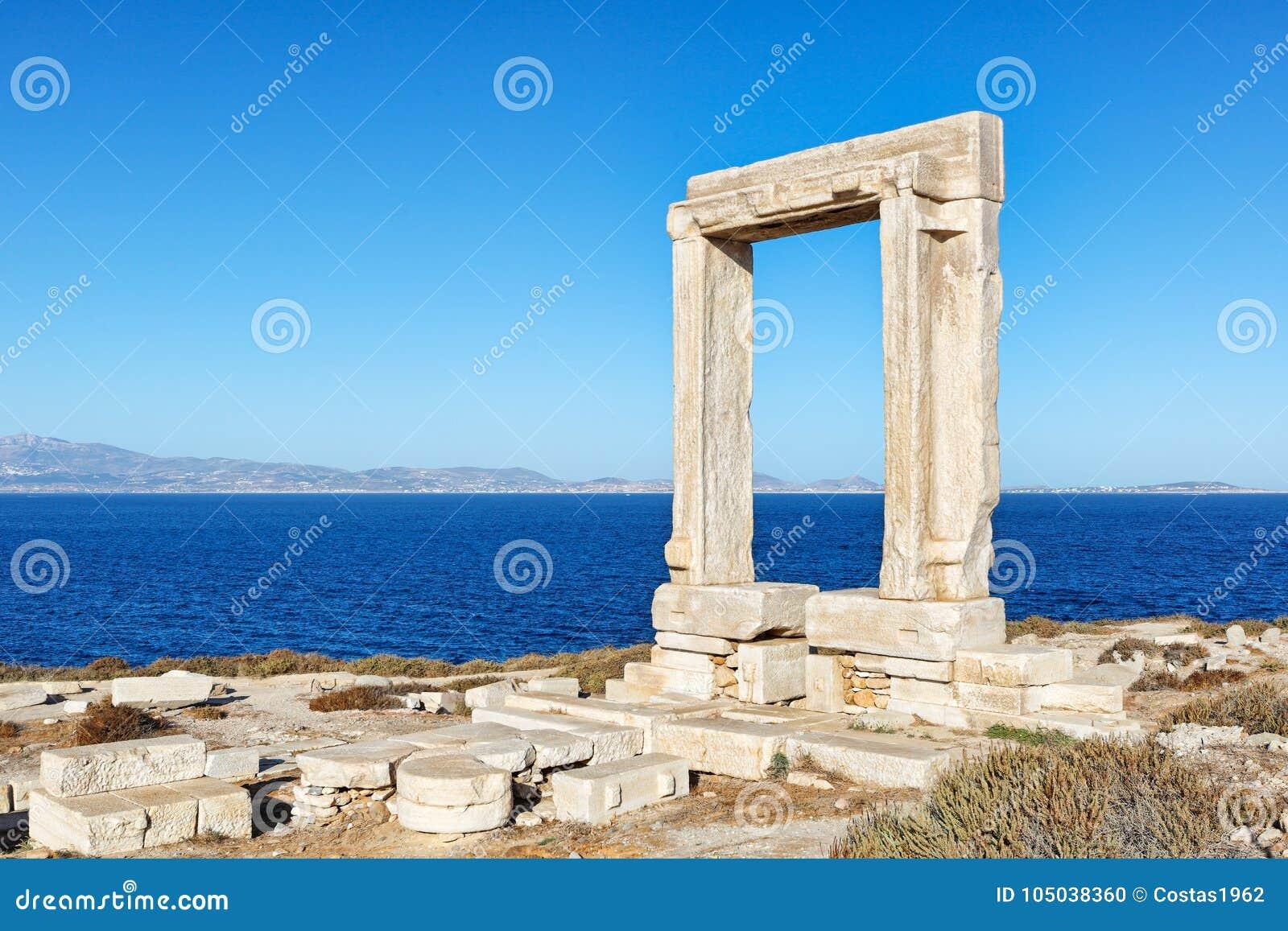 Portara in Chora von Naxos-Insel, Griechenland