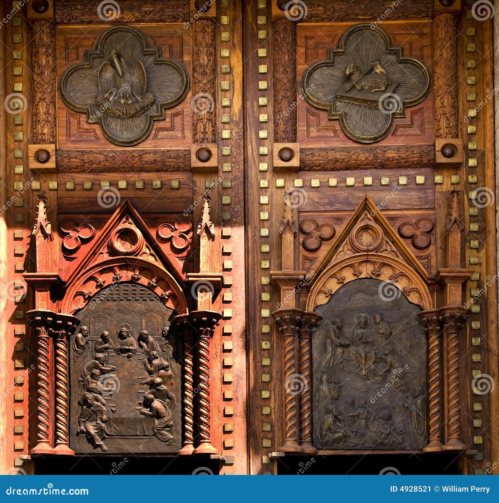 Portas de madeira México da igreja