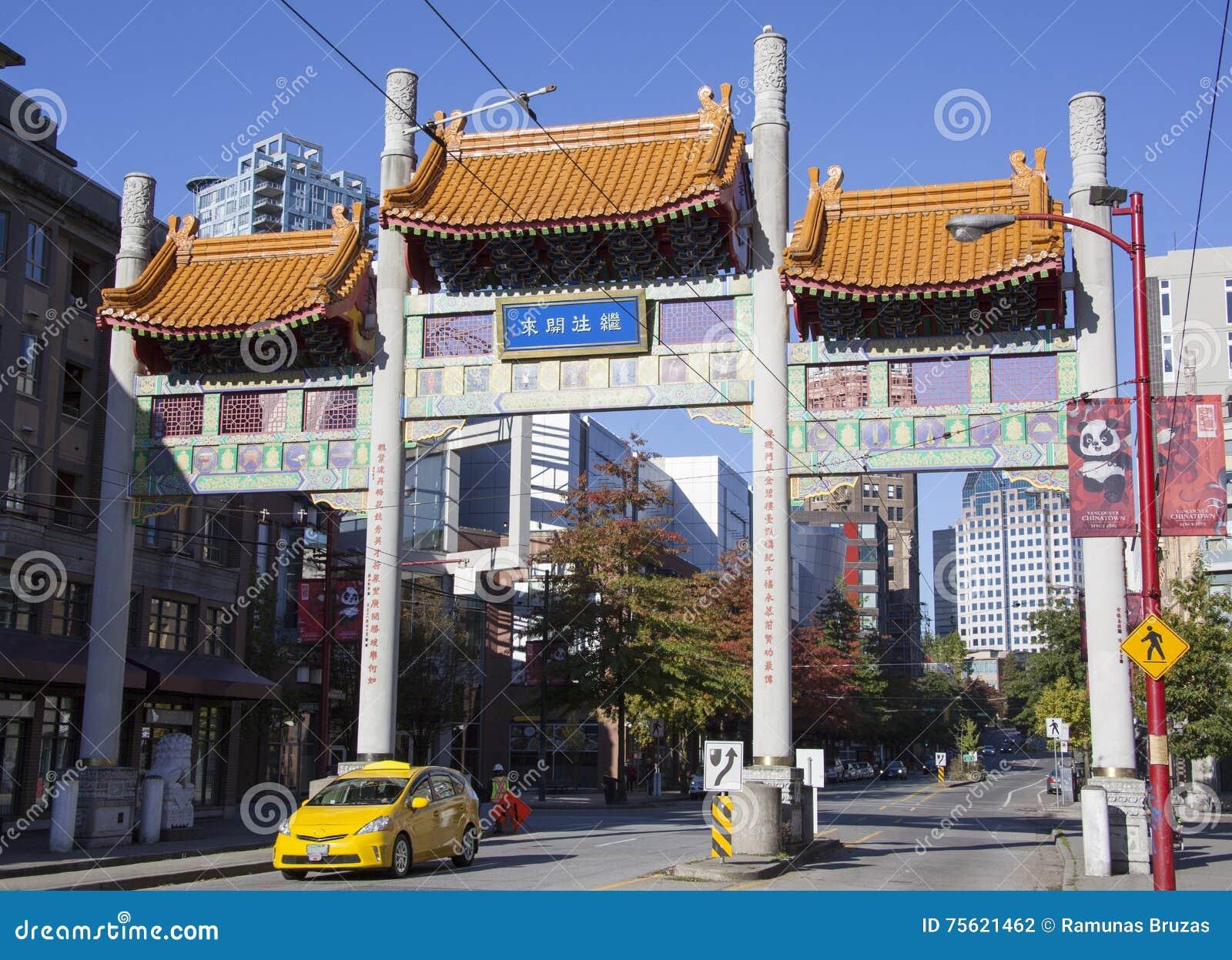 Portas do bairro chinês