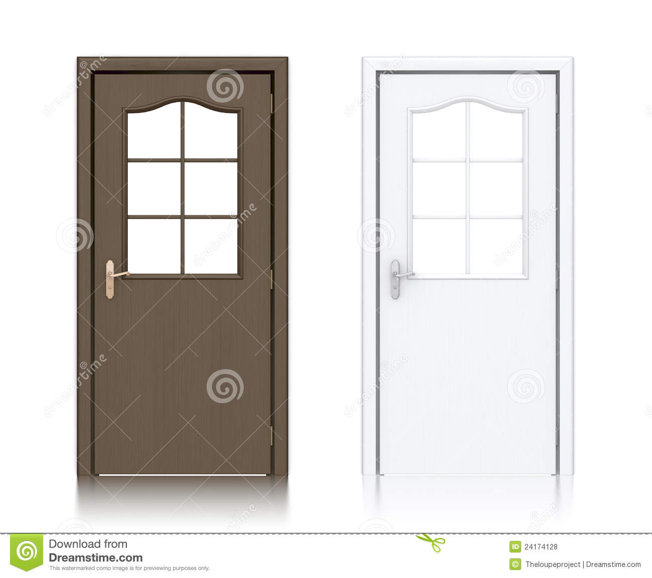 Fotos de Stock Royalty Free: Wooden dark brown and white painted doors  #85A724 1300x1154