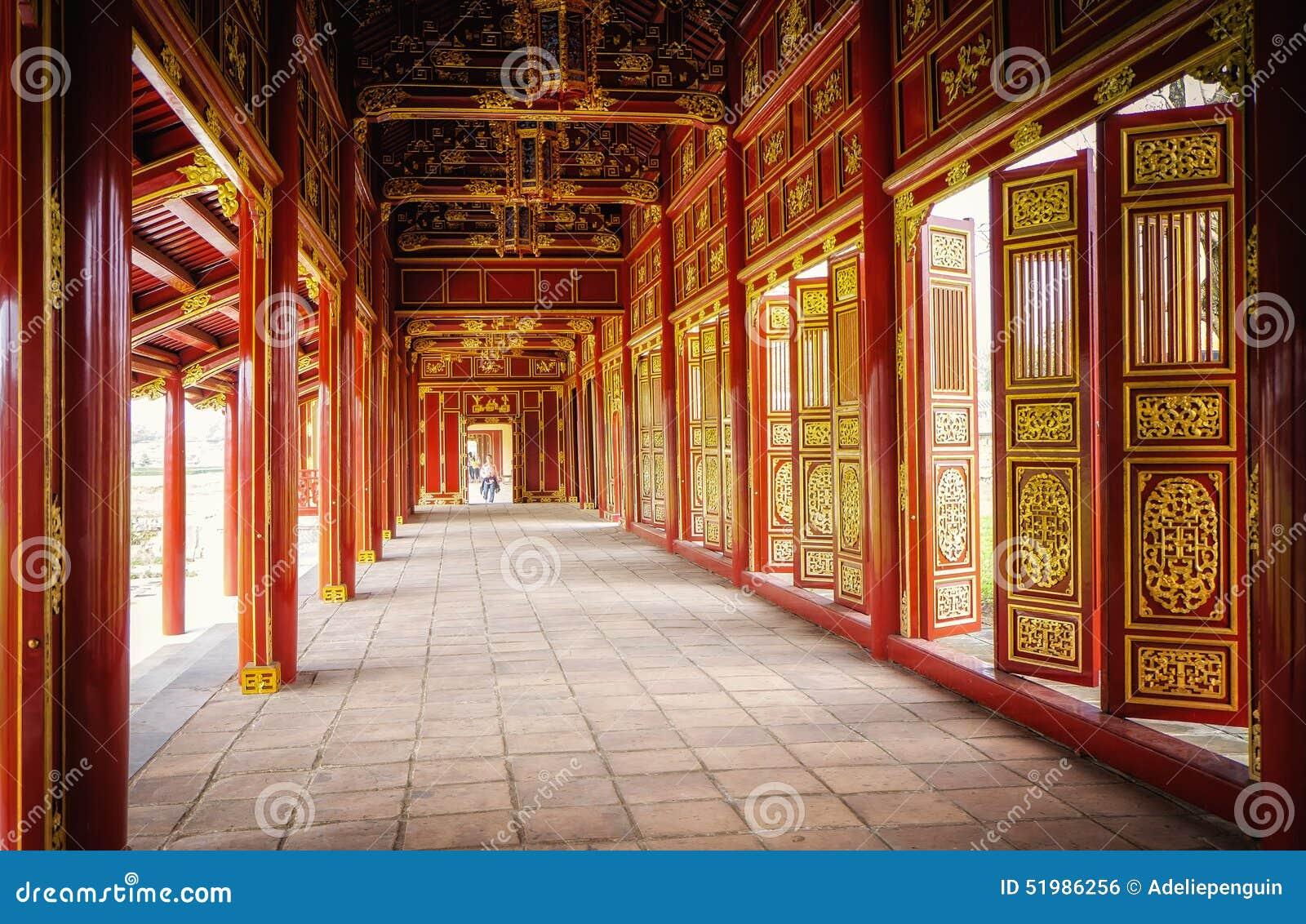 Portas vermelhas, citadela imperial, matiz, Vietname
