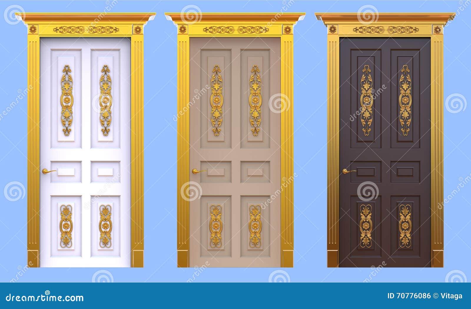 Porte antiche del palazzo messe fotografia stock for Porte antiche prezzi