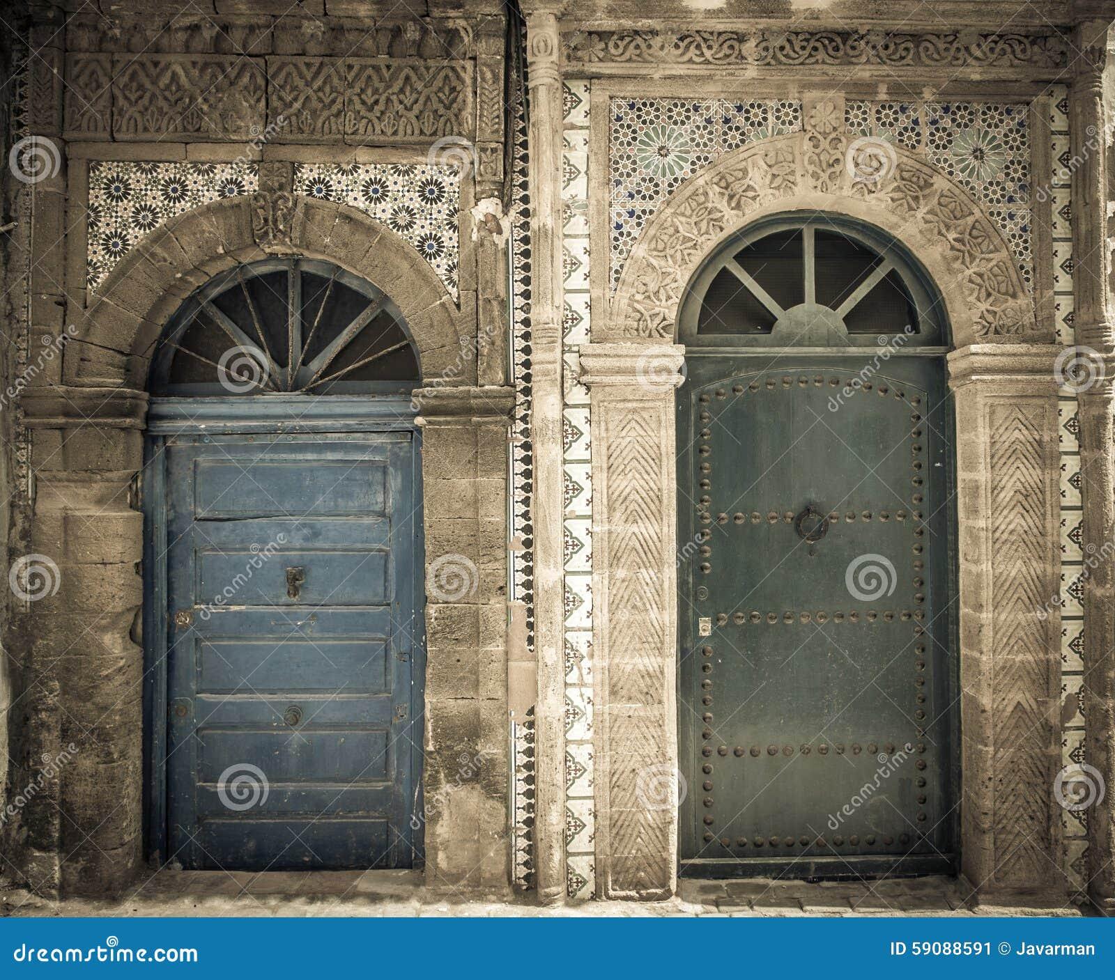 Porte Antiche, Essaouira, Marocco Immagine Stock - Immagine di ...
